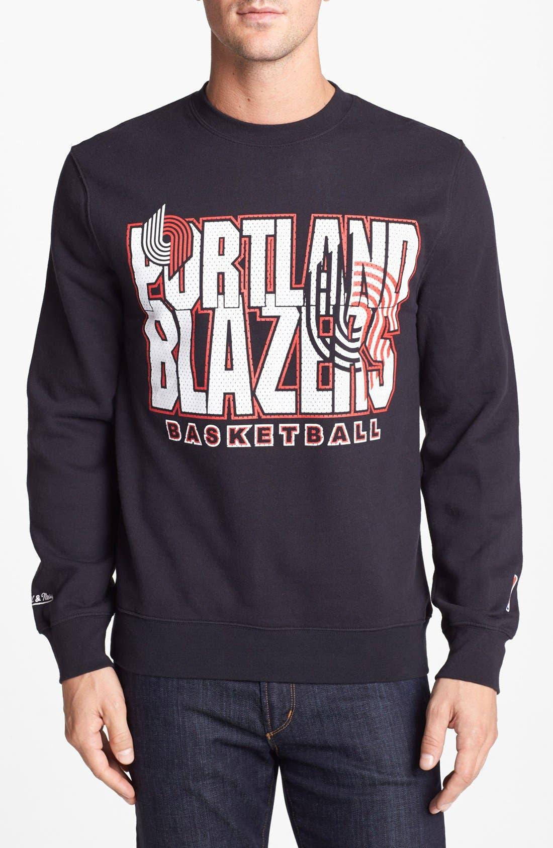 Alternate Image 1 Selected - Mitchell & Ness 'Portland Trail Blazers - Technical Foul' Sweatshirt