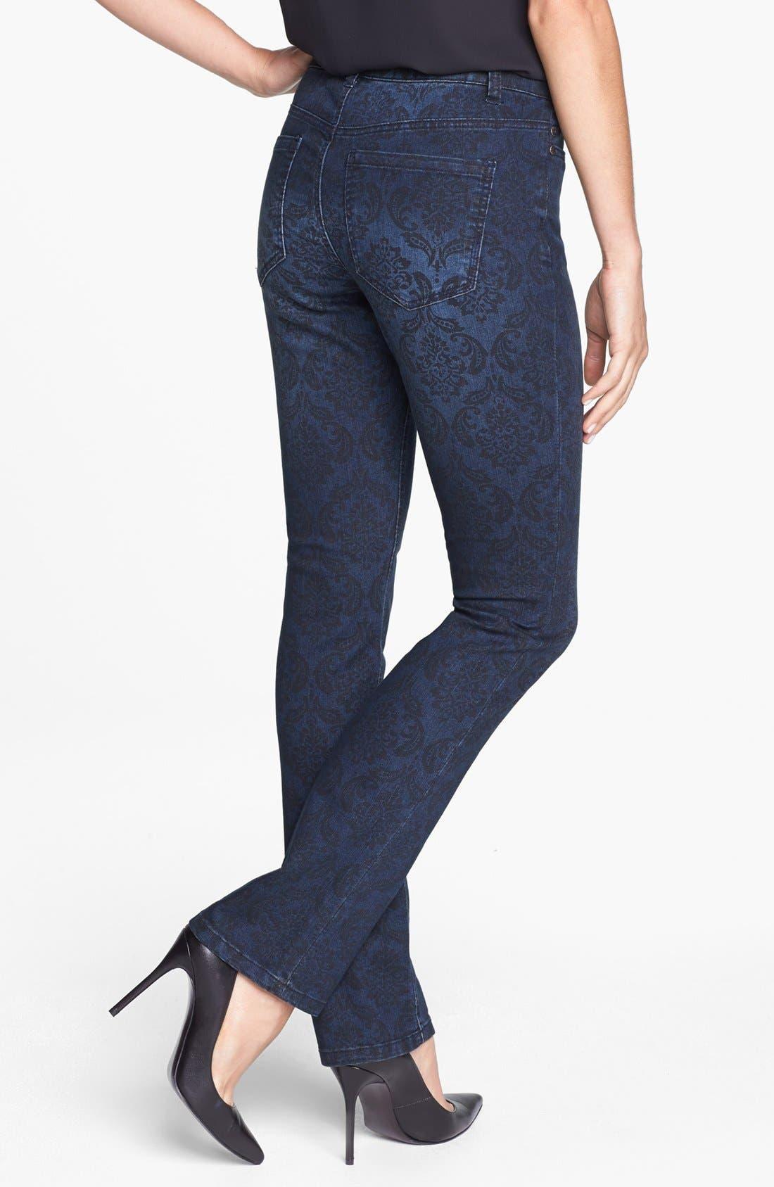 Alternate Image 2  - Liverpool Jeans Company 'Sadie' Print Straight Leg Jeans
