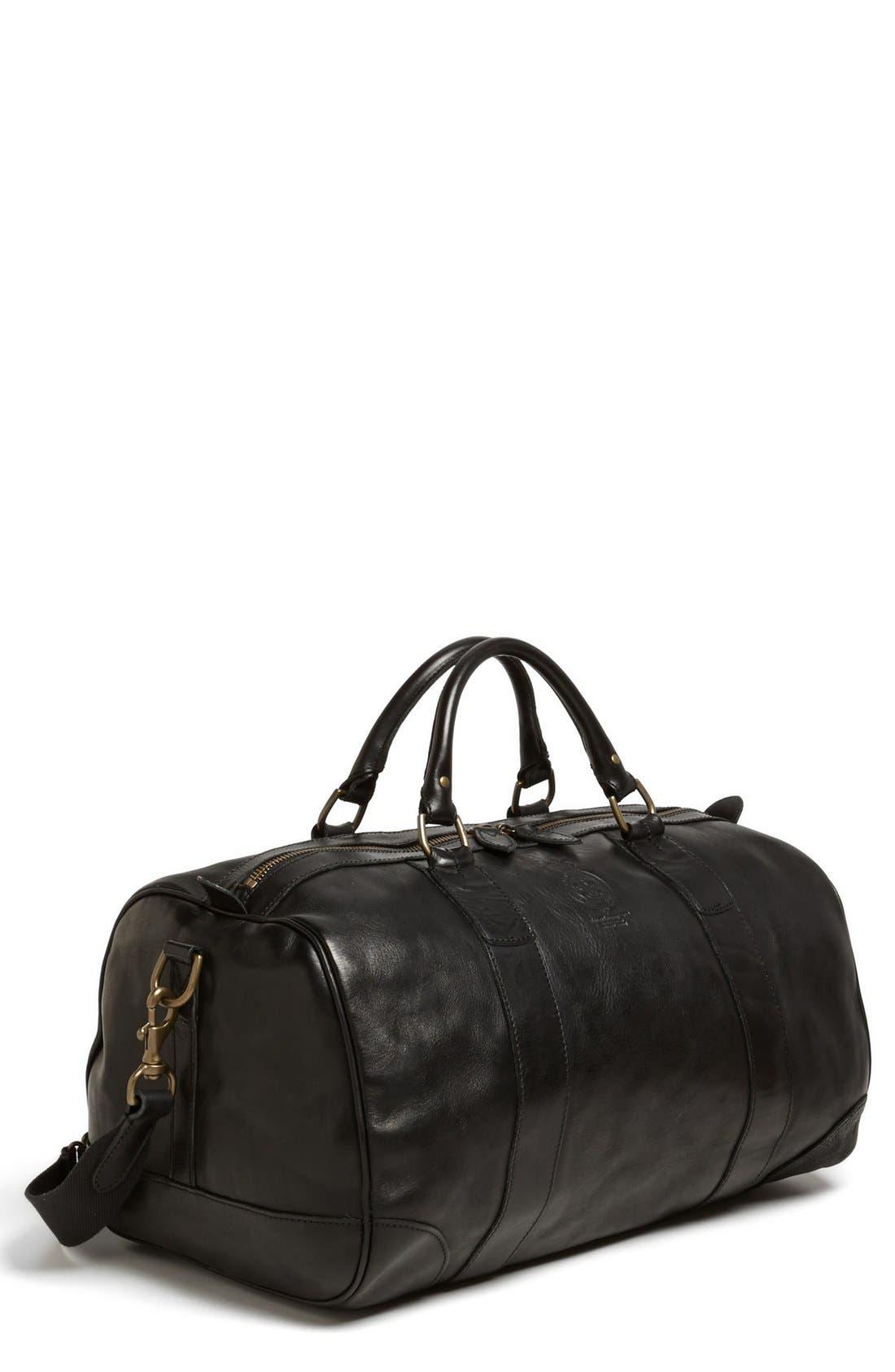 Main Image - Polo Ralph Lauren Leather Gym Bag