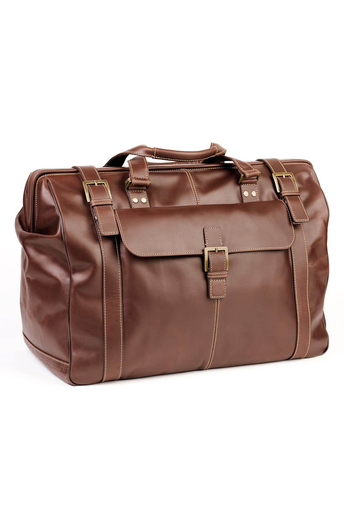 'Bryant' Duffel Bag,                             Main thumbnail 1, color,                             Antique Mahogany