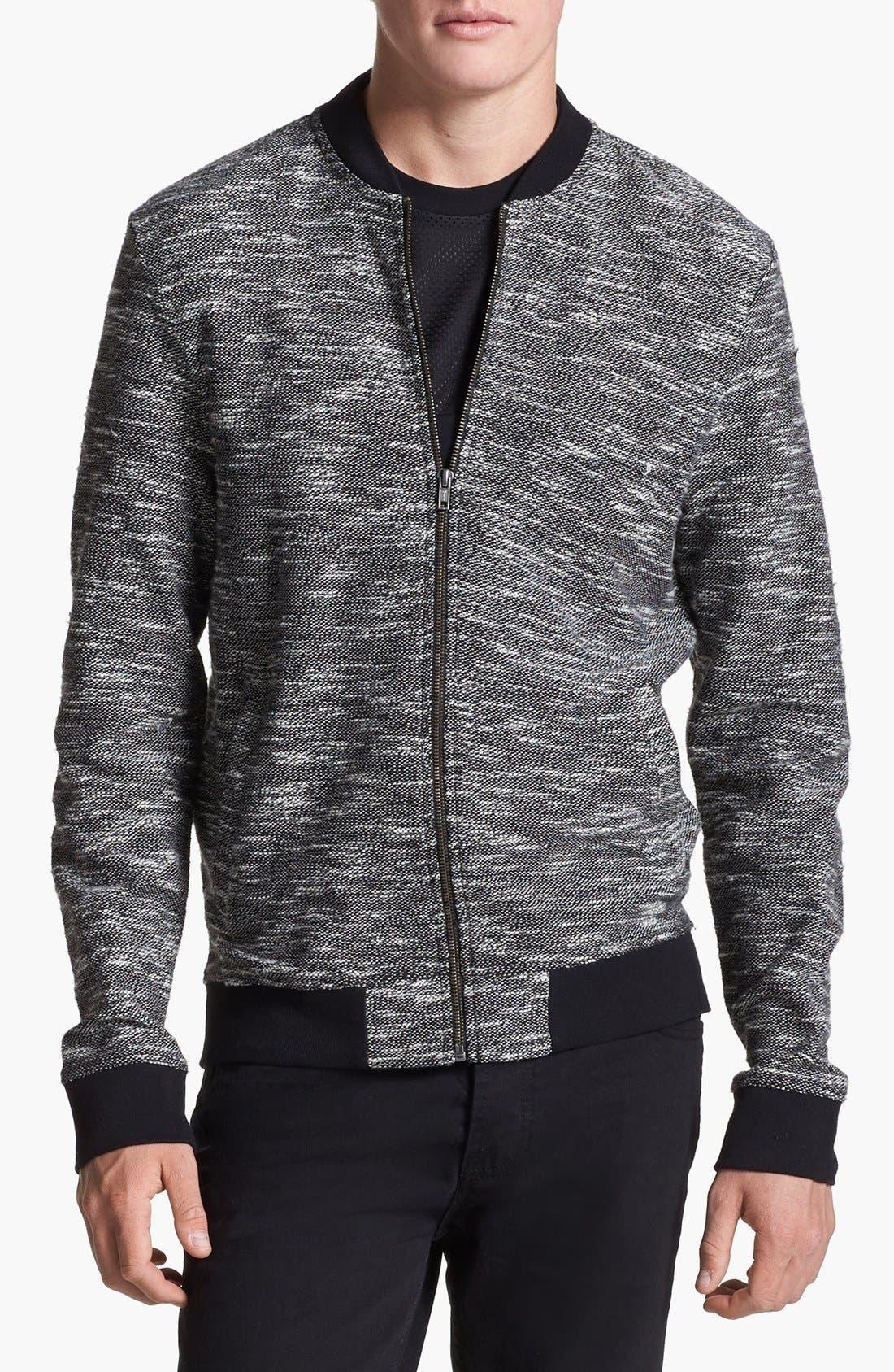 Main Image - Topman Knit Bomber Jacket