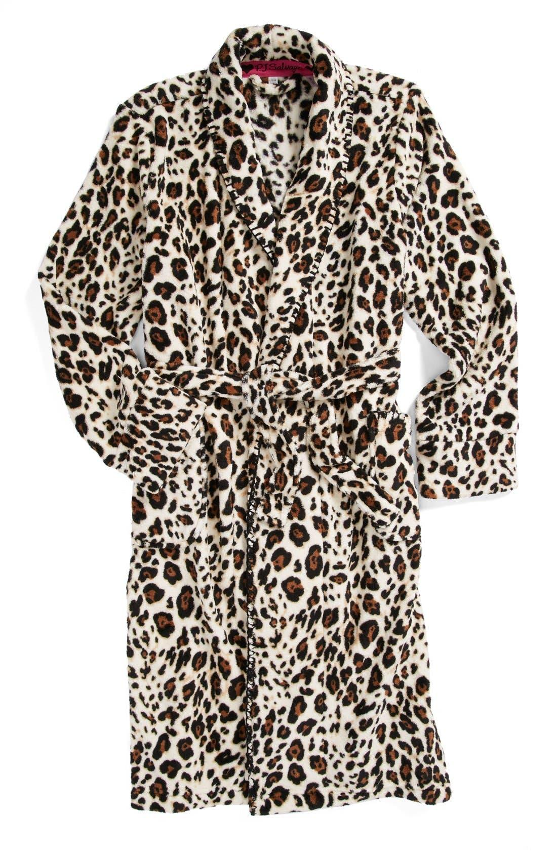 Alternate Image 1 Selected - PJ Salvage 'Here Kitty Kitty' Robe (Little Girls & Big Girls)