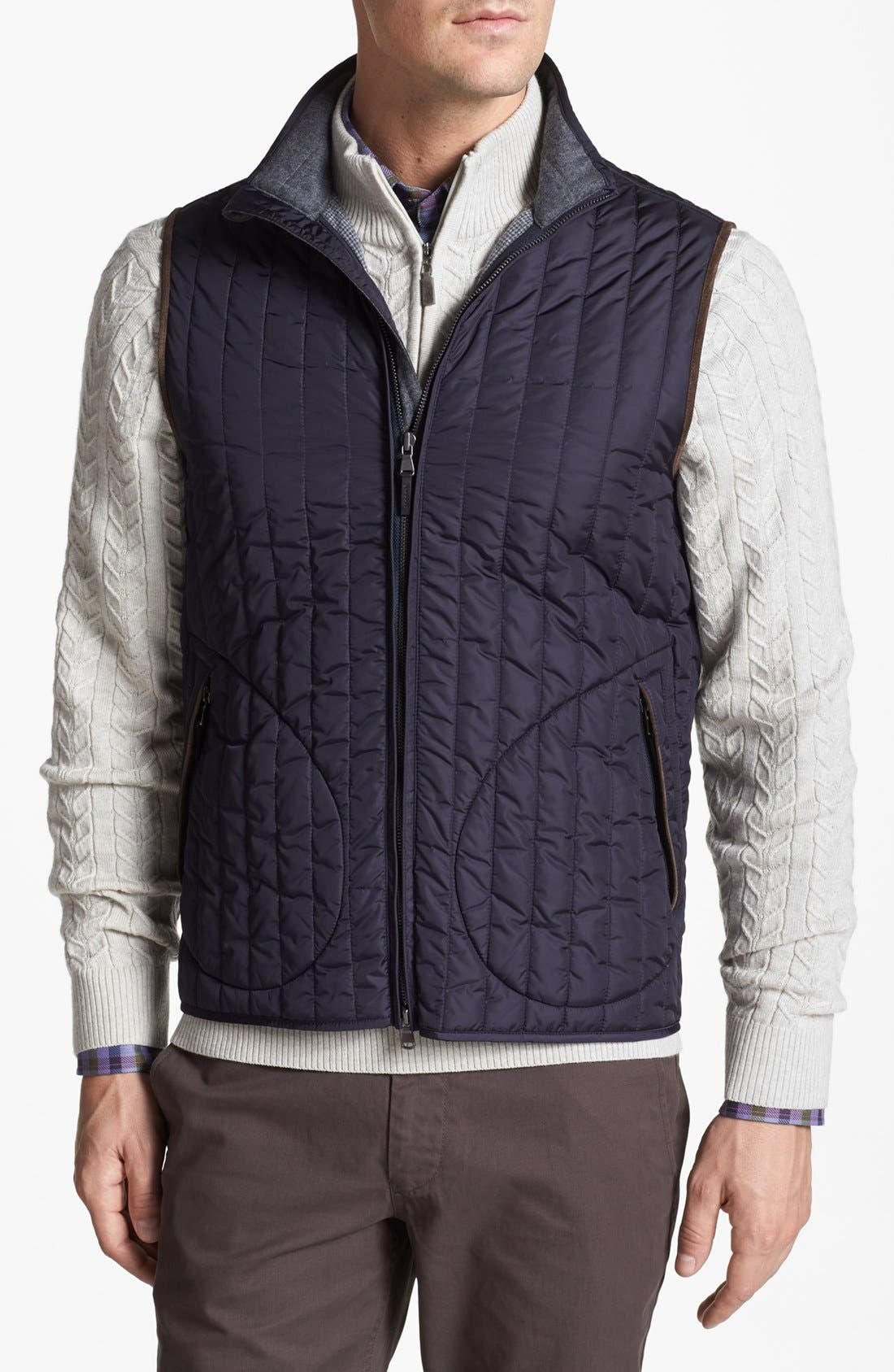 Alternate Image 1 Selected - Kent and Curwen 'Mackaulay' Quilted Vest