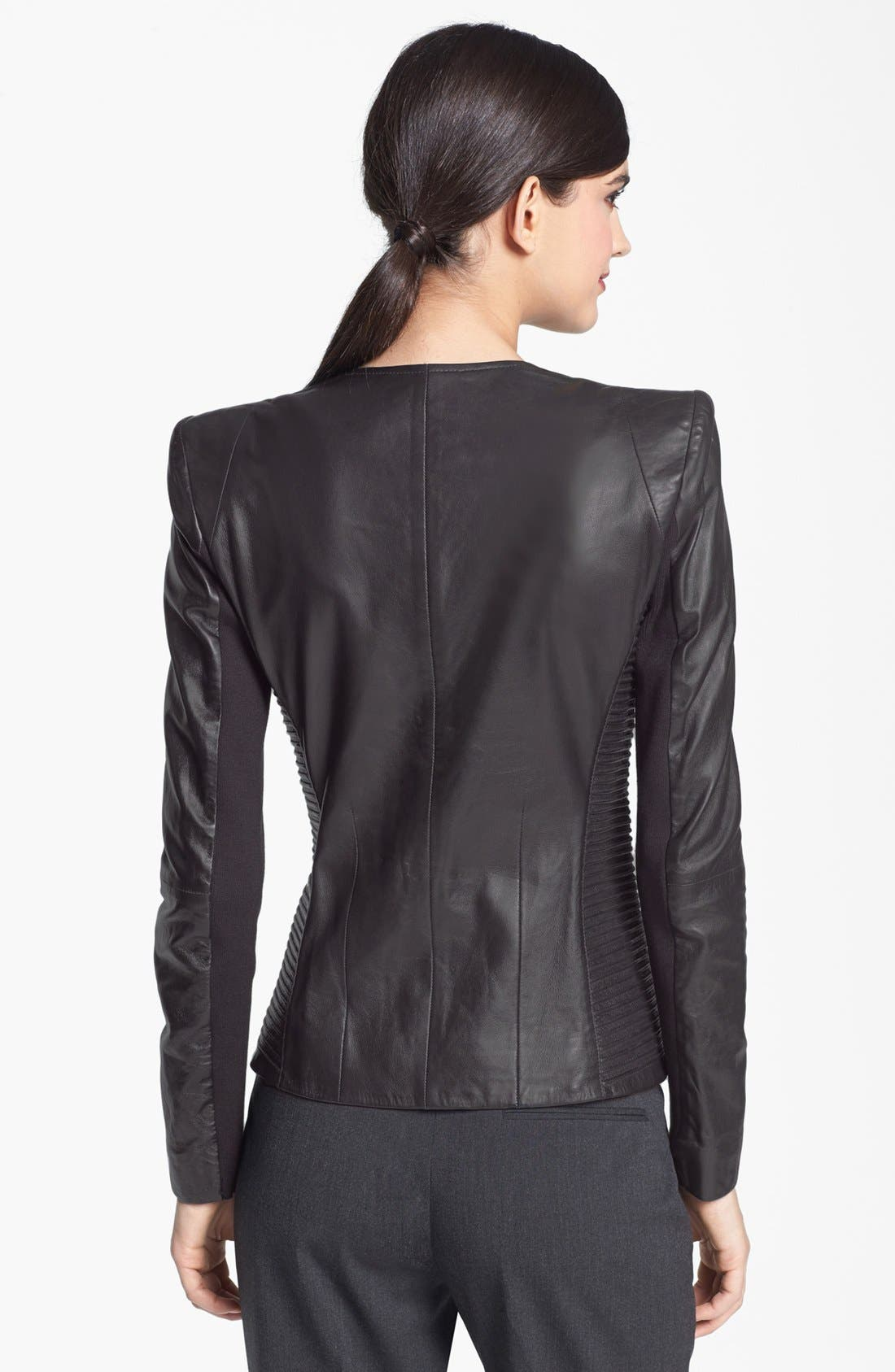 Alternate Image 2  - Trouvé Power Shoulder Leather Jacket