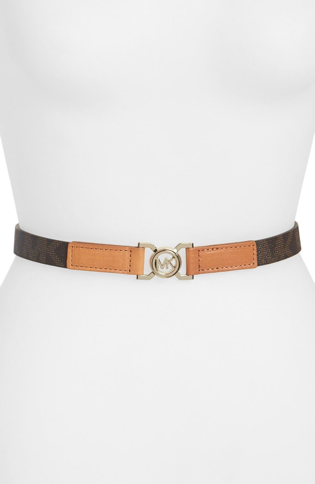 Alternate Image 1 Selected - MICHAEL Michael Kors Interlocking Logo Belt