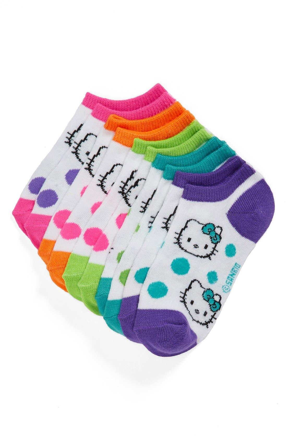 Alternate Image 1 Selected - Hello Kitty® 'Dot' Socks (5-Pack) (Walker Girls & Toddler Girls)