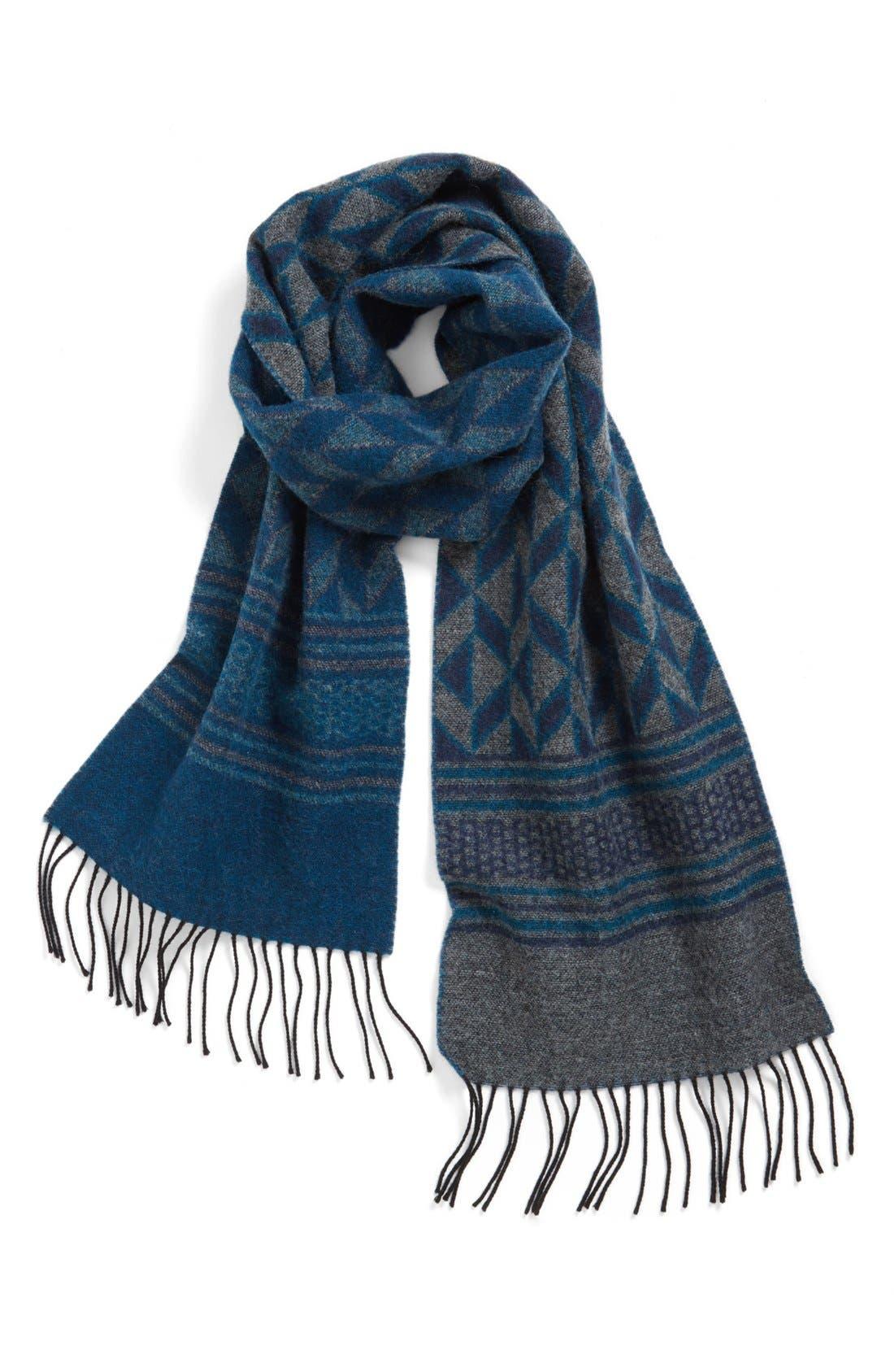 Wool Scarf,                             Main thumbnail 1, color,                             Navy