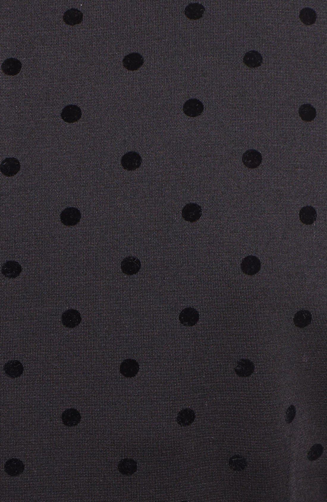 Alternate Image 3  - Tahari Flocked Dot Ponte Knit Fit & Flare Dress
