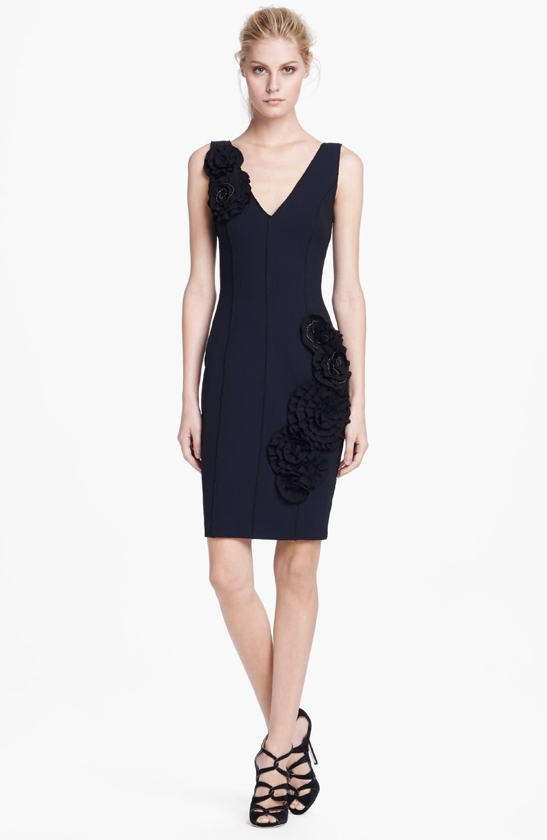 Main Image - Tracy Reese Rose Detail Sheath Dress