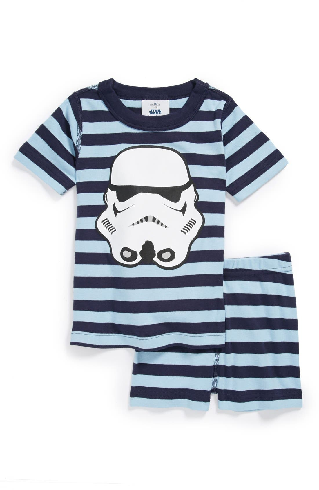 Main Image - Hanna Andersson Two Piece Fitted Pajamas (Toddler Boys)