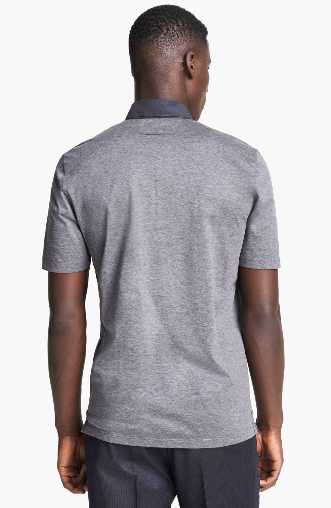 Alternate Image 2  - Z Zegna Jersey Cotton Polo