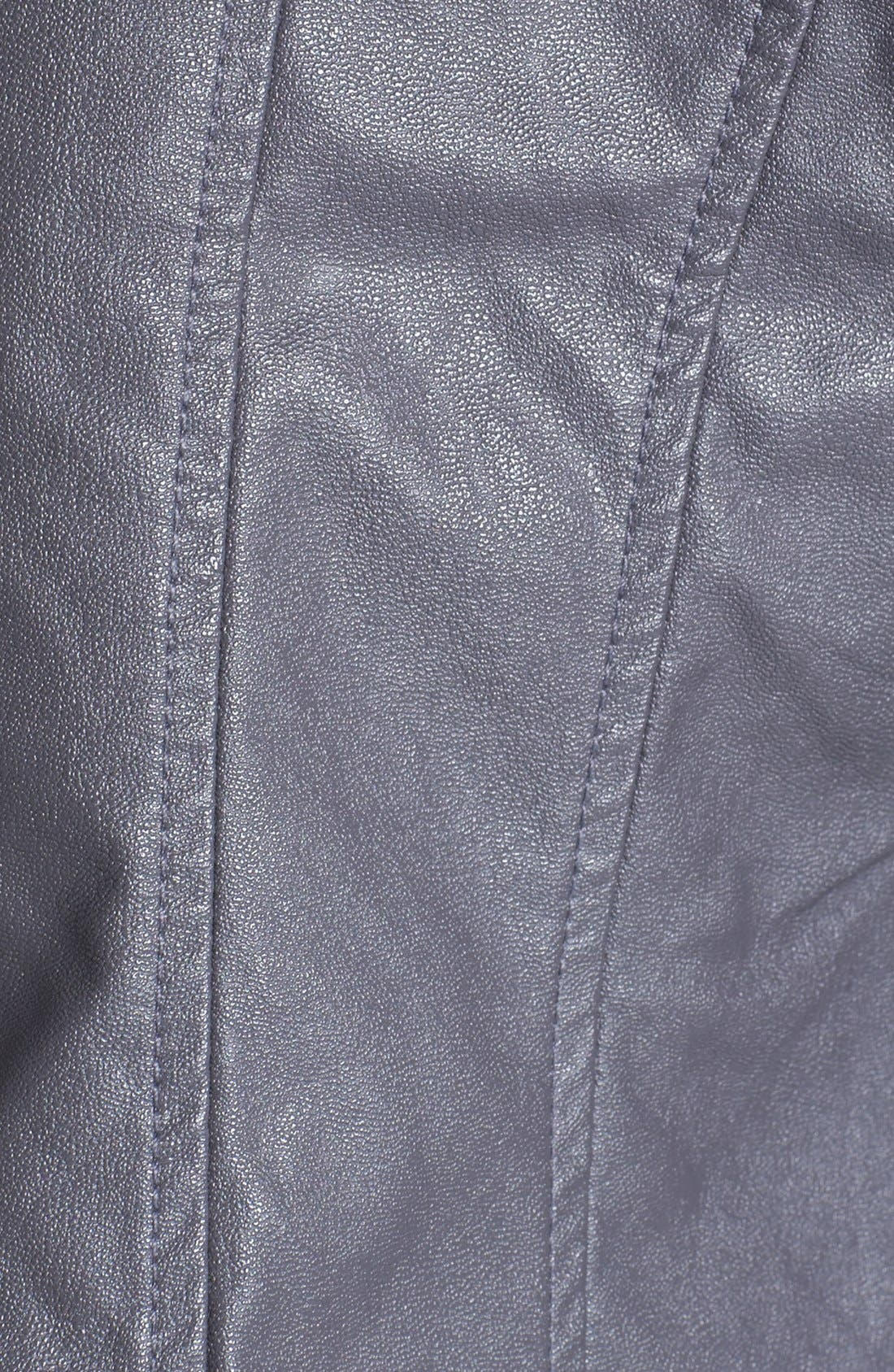 Alternate Image 3  - KUT from the Kloth Contrast Sleeve Faux Leather Jacket