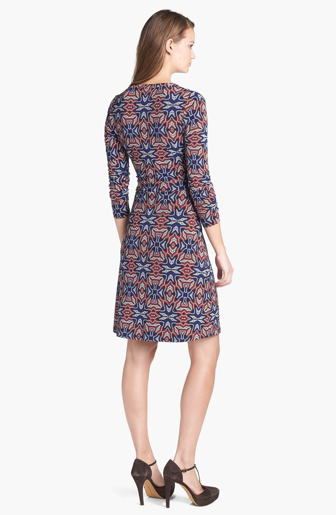 Alternate Image 2  - Anne Klein Print Faux Wrap Dress (Petite)