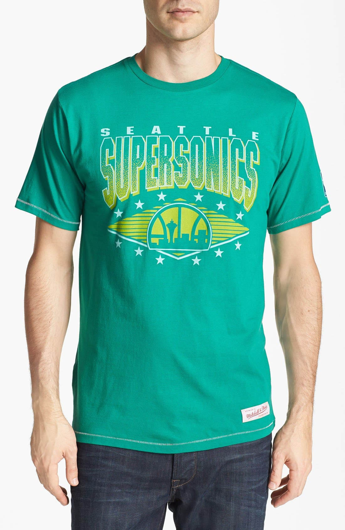 'Seattle Supersonics' T-Shirt,                         Main,                         color, Kelly Green