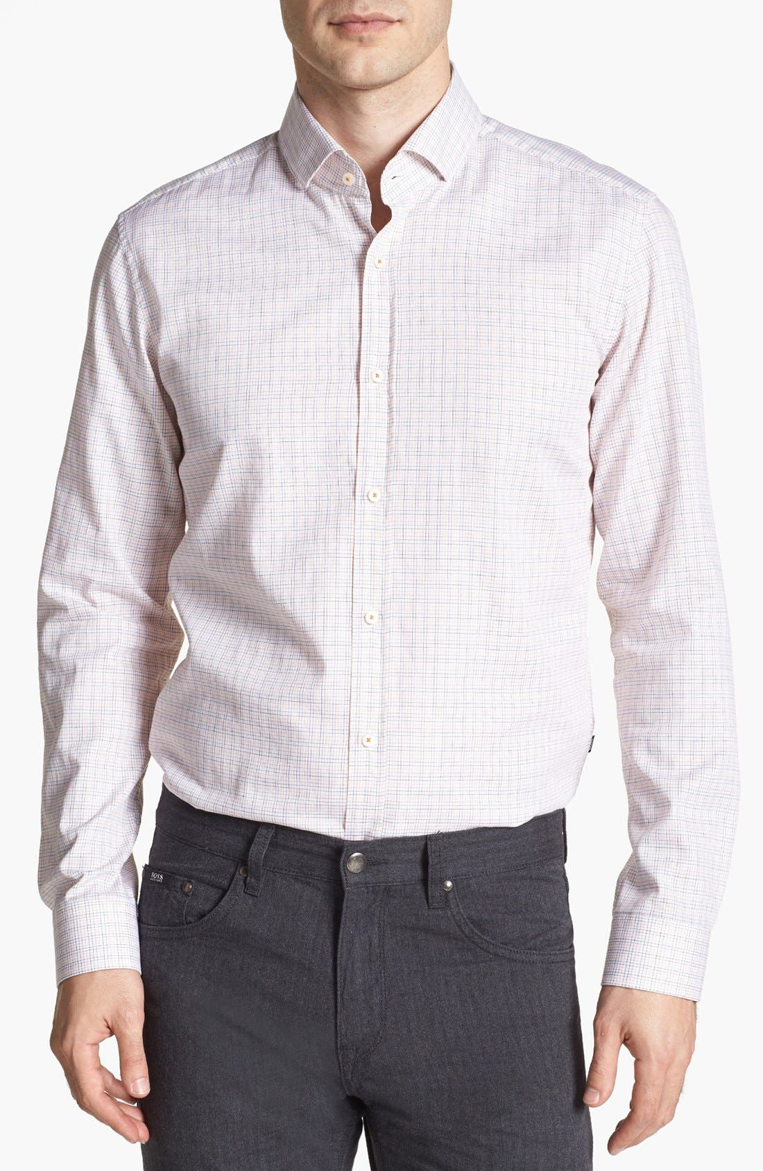 Alternate Image 1 Selected - BOSS HUGO BOSS 'Mason' Regular Fit Sport Shirt