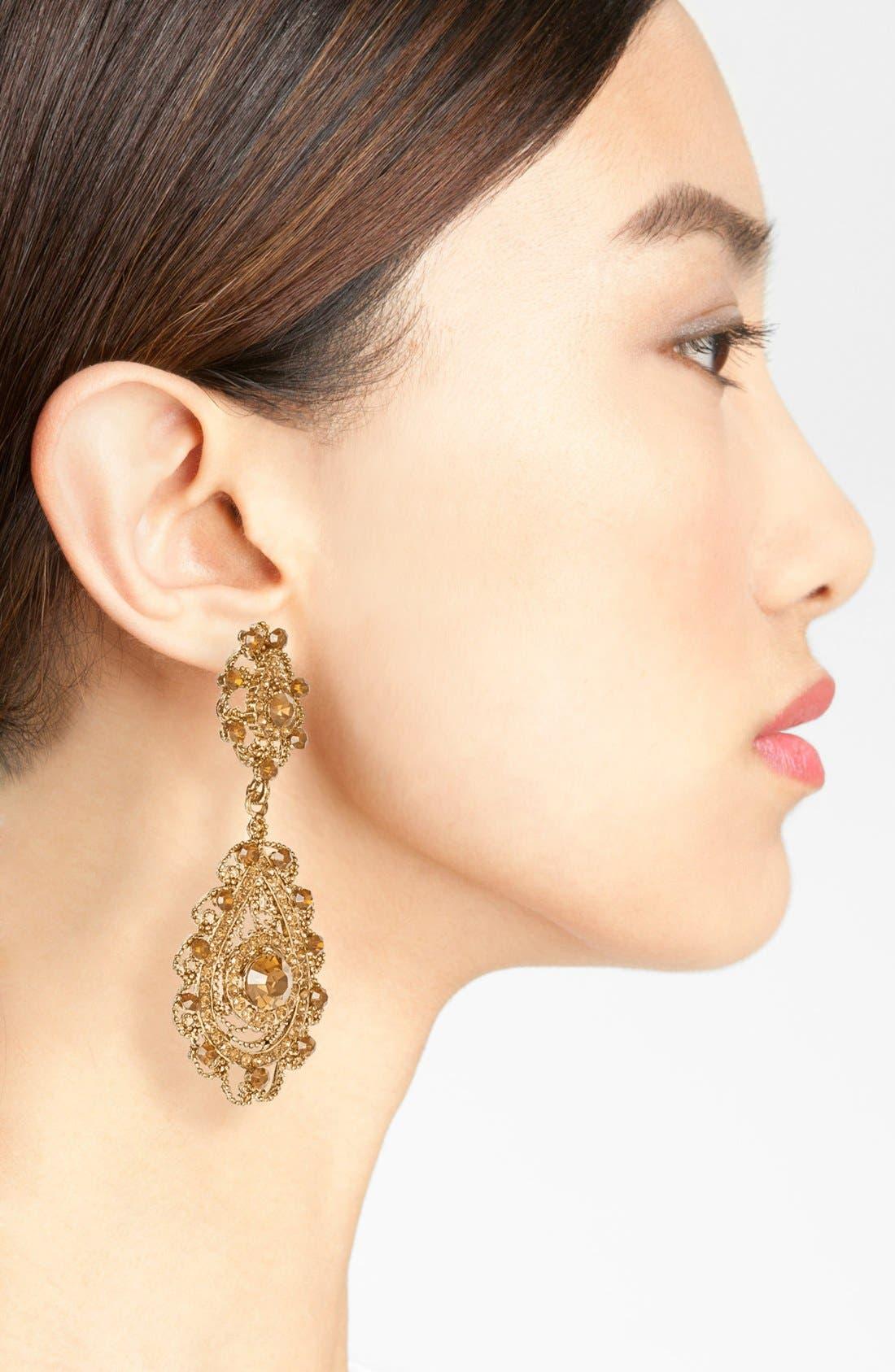 Alternate Image 2  - Tasha Ornate Teardrop Earrings