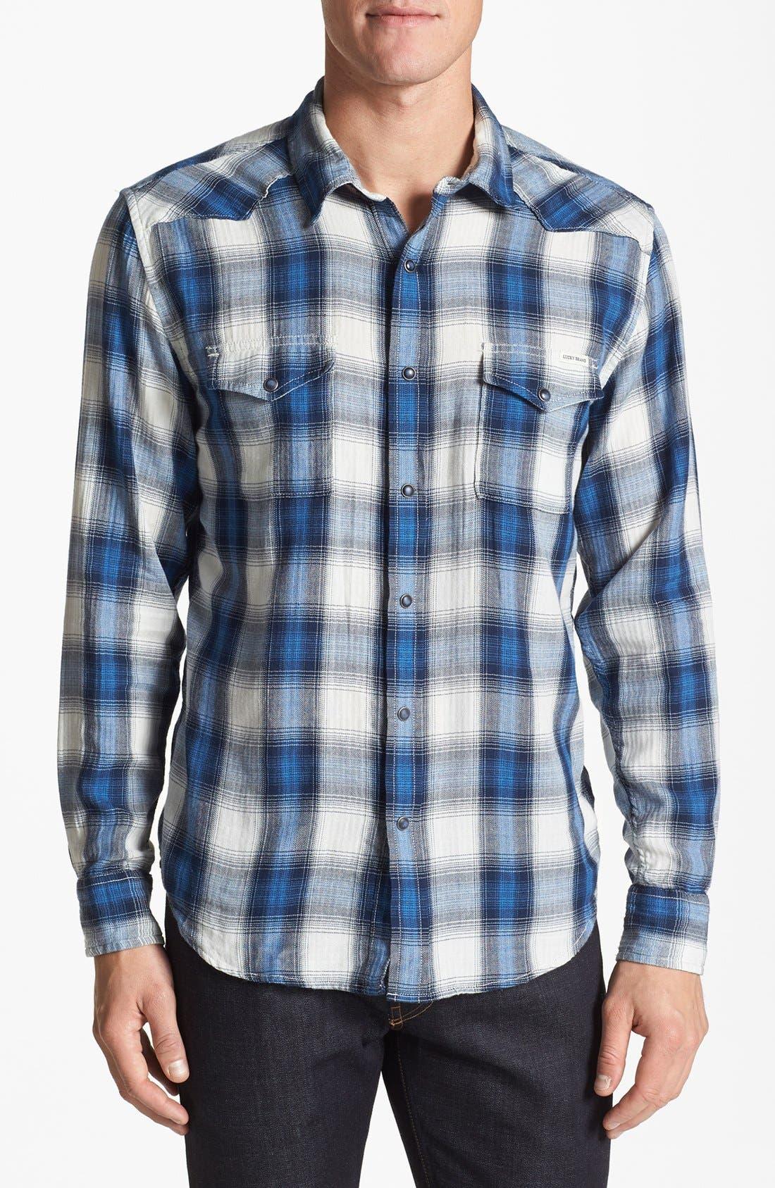Main Image - Lucky Brand 'Spearhead' Plaid Western Shirt