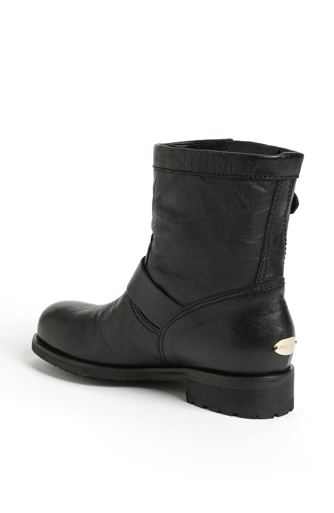 Alternate Image 2  - Jimmy Choo 'Youth' Short Biker Boot (Women)