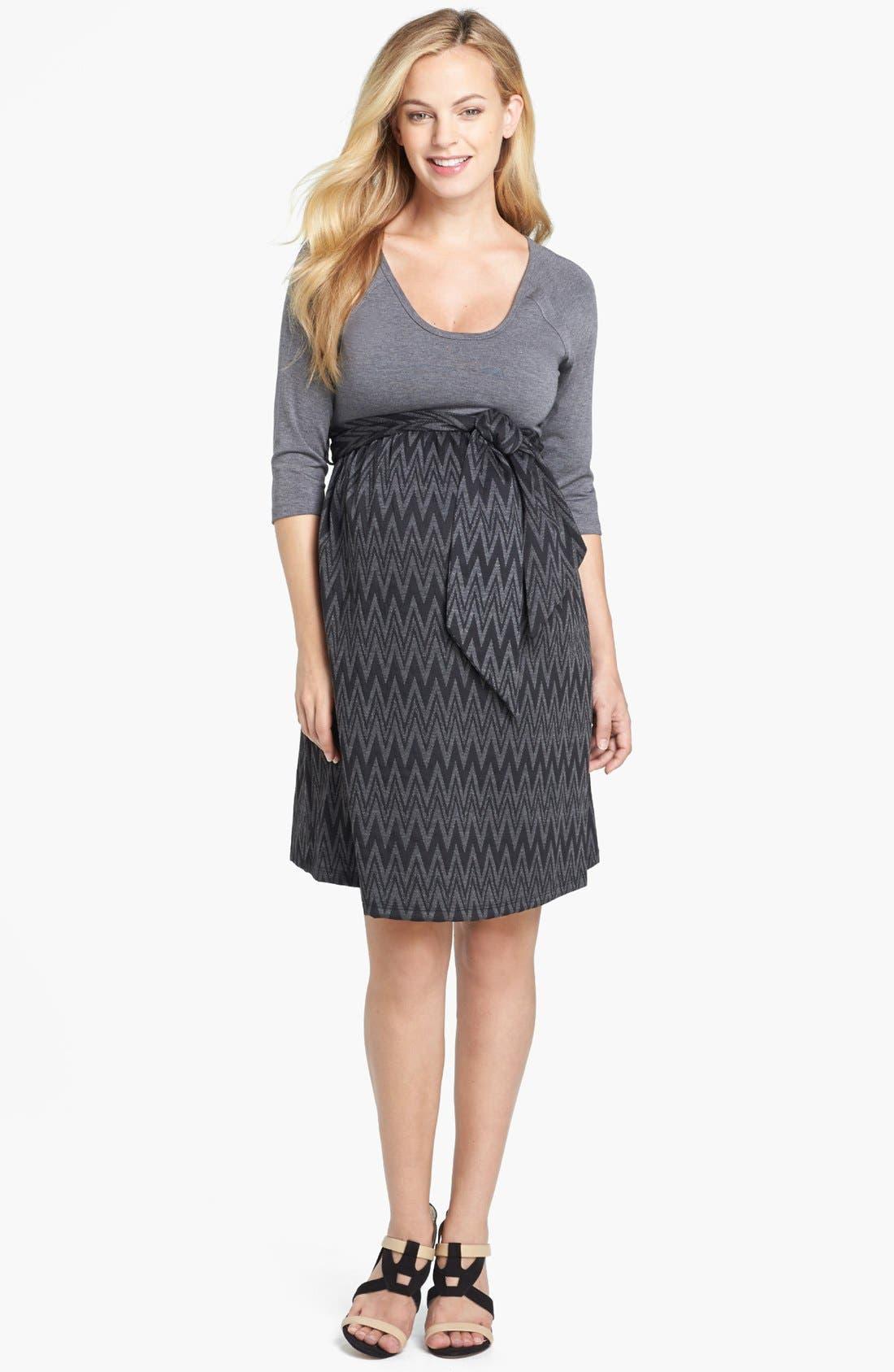 Main Image - Maternal America Tie Front Dress