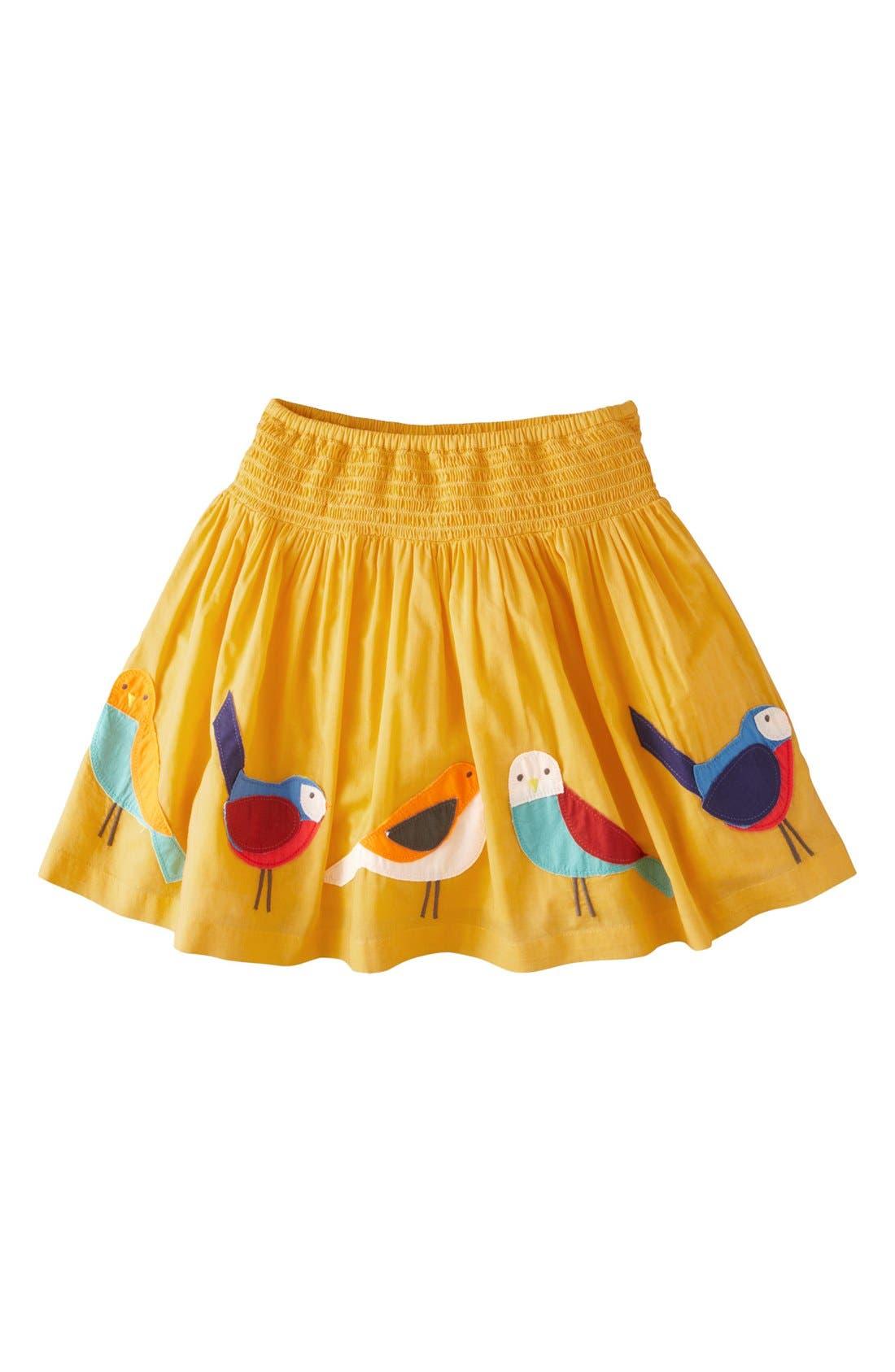 Main Image - Mini Boden 'Decorative' Cotton Voile Skirt (Toddler Girls, Little Girls & Big Girls)
