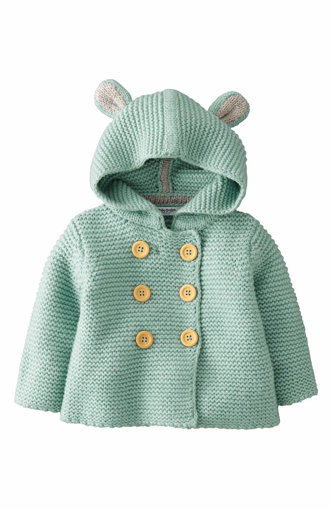 Alternate Image 1 Selected - Mini Boden Hooded Jacket (Baby Girls)