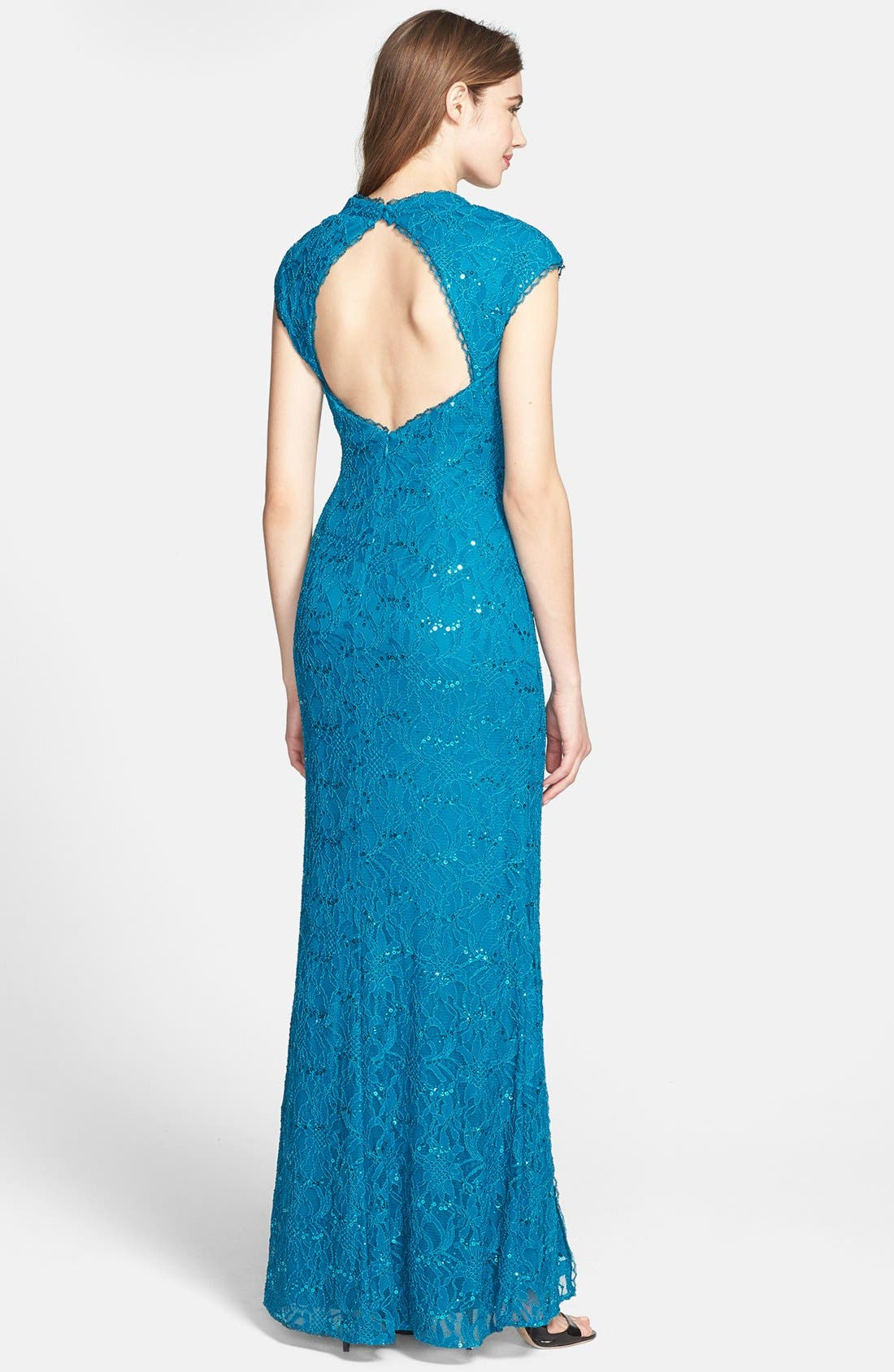 Alternate Image 2  - Hailey by Adrianna Papell Embellished Lace Gown (Online Only)