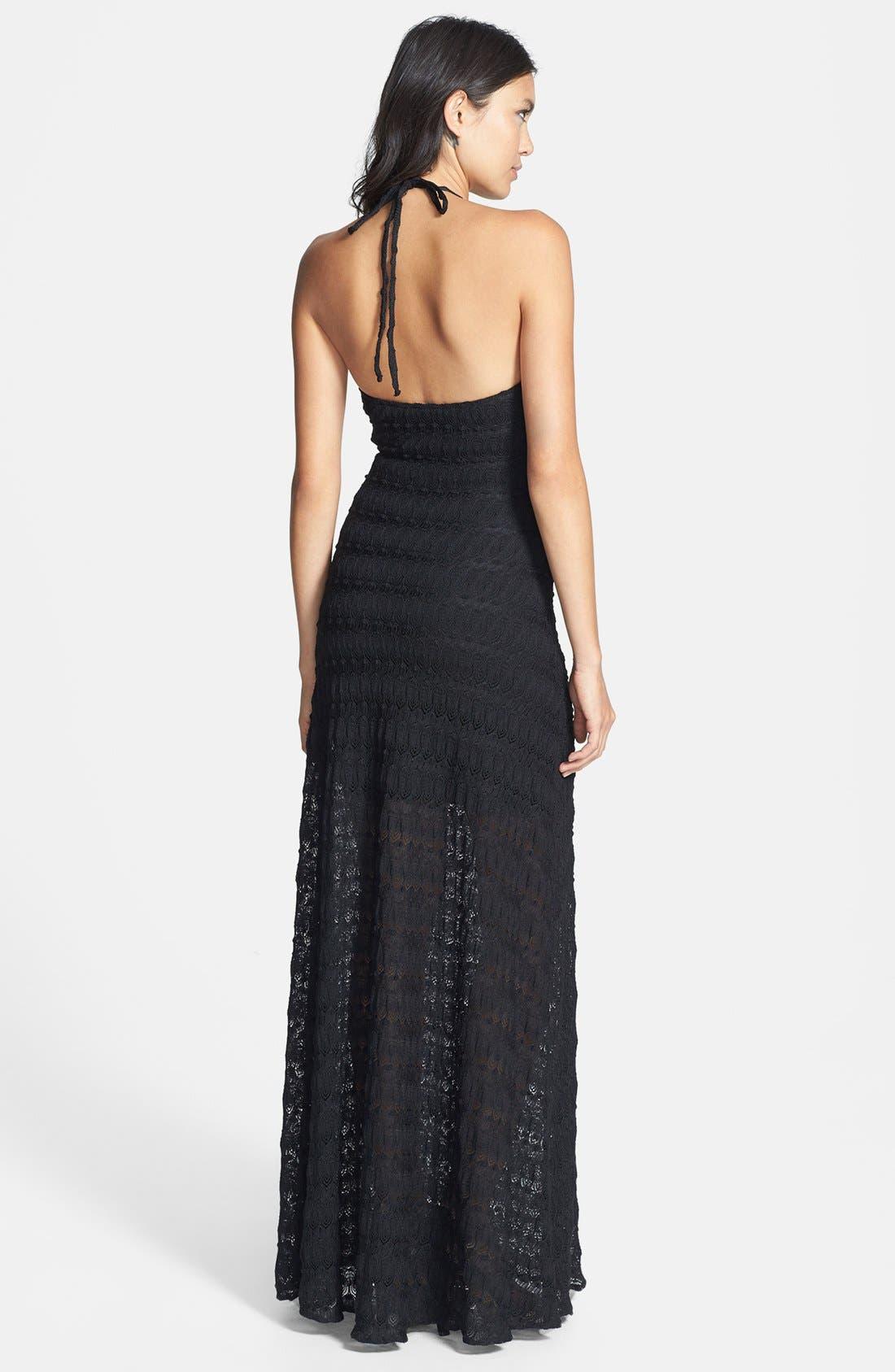 Alternate Image 2  - Sky 'Kosa' Crochet Lace Halter Maxi Dress