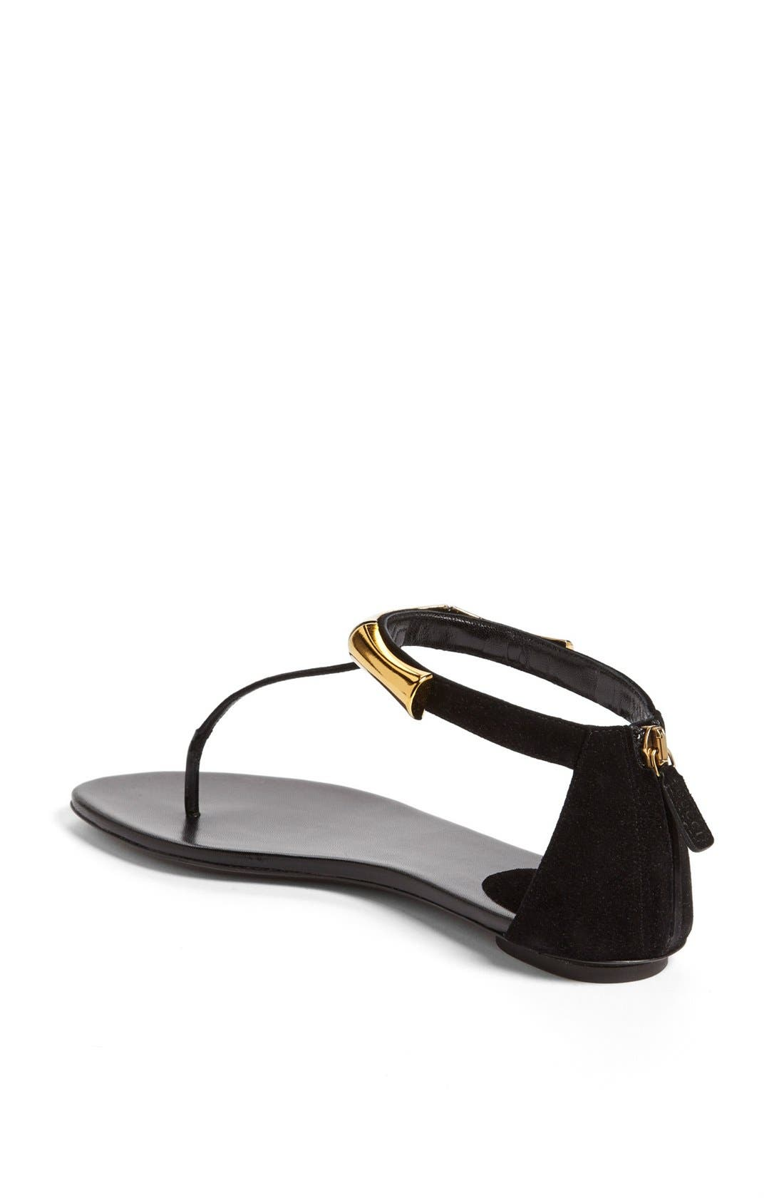 Alternate Image 2  - Gucci 'Coraline' Metal T-Strap Sandal