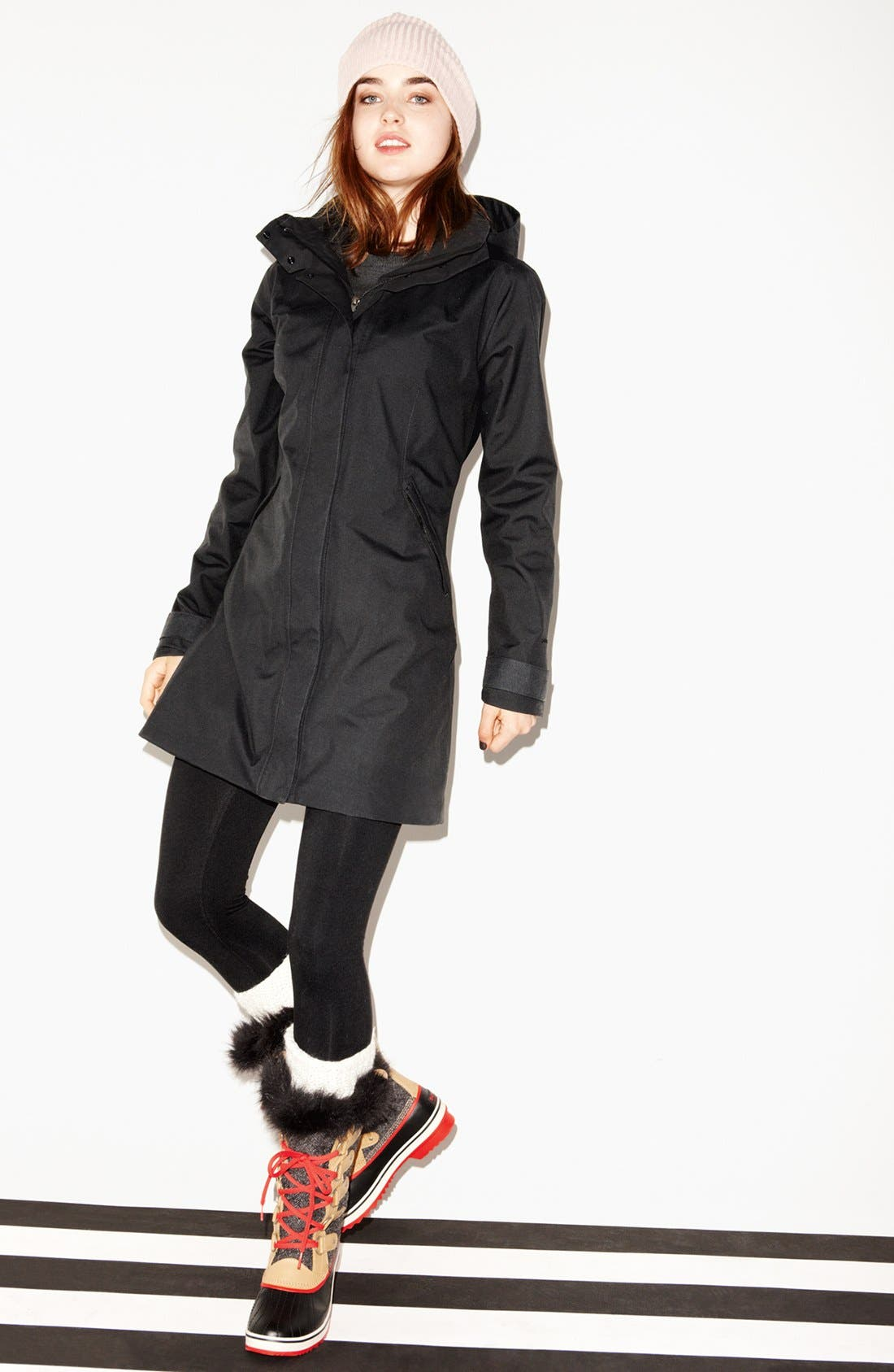 Alternate Image 4  - Patagonia Parka, Zella Leggings & Halogen® Sweater