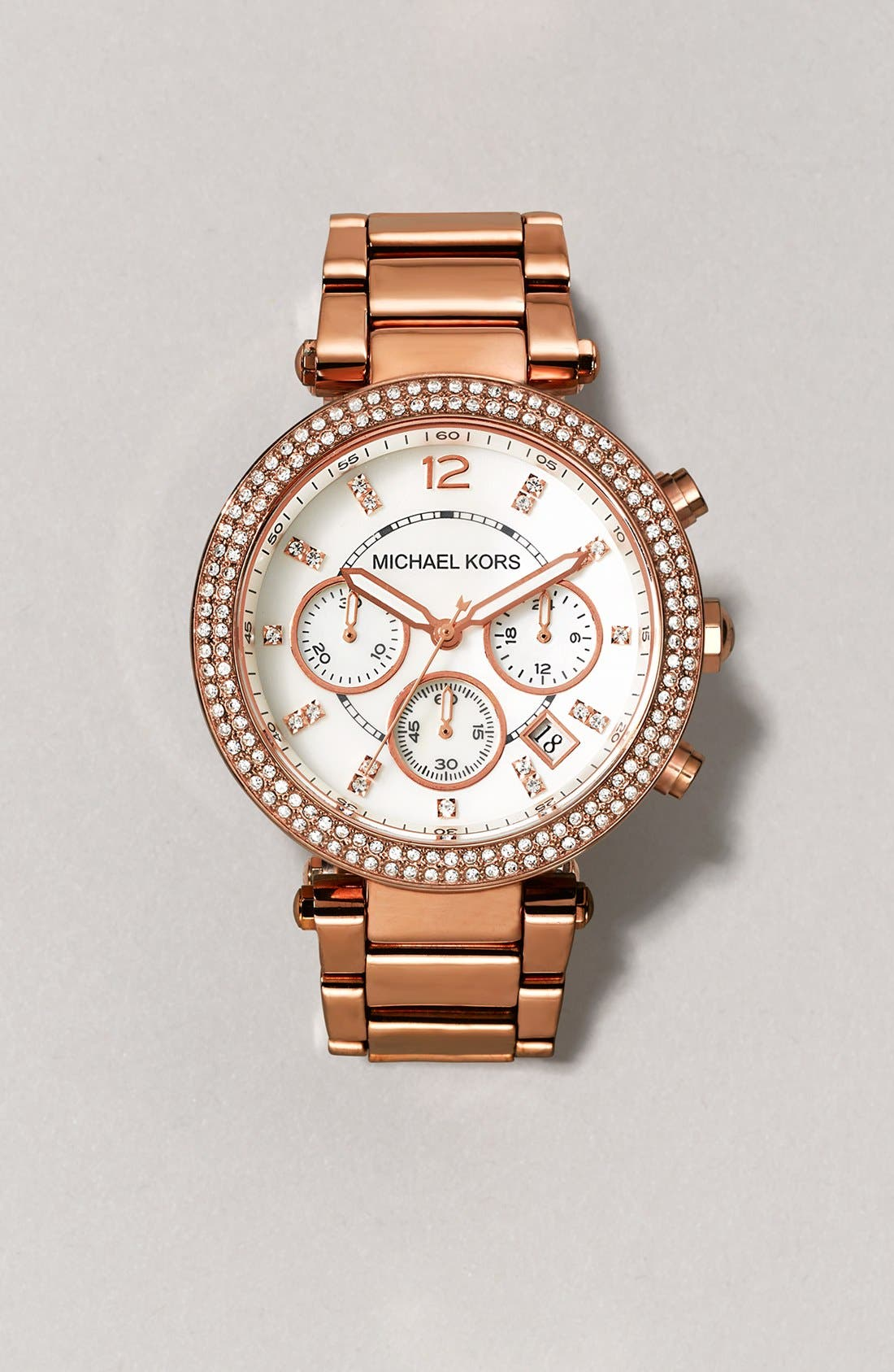 Alternate Image 5  - Michael Kors 'Parker' Chronograph Bracelet Watch, 39mm