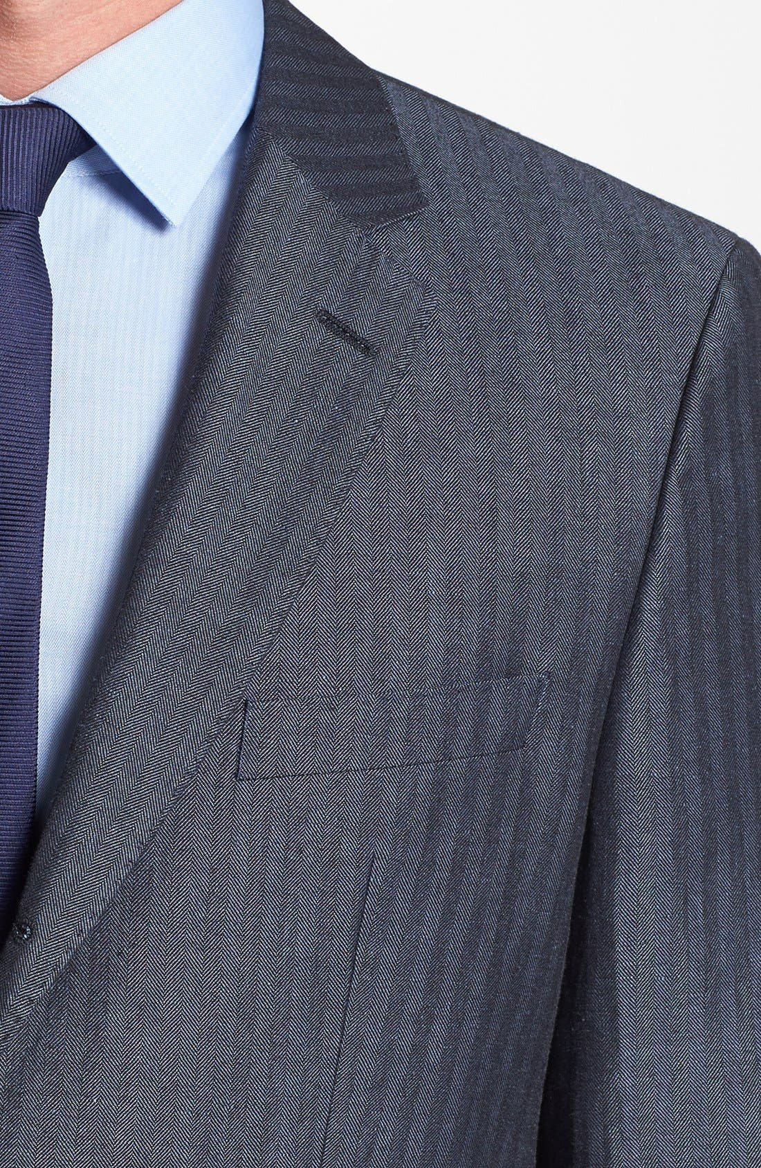 Alternate Image 3  - BOSS HUGO BOSS 'Johnston' Trim Fit Herringbone Sportcoat