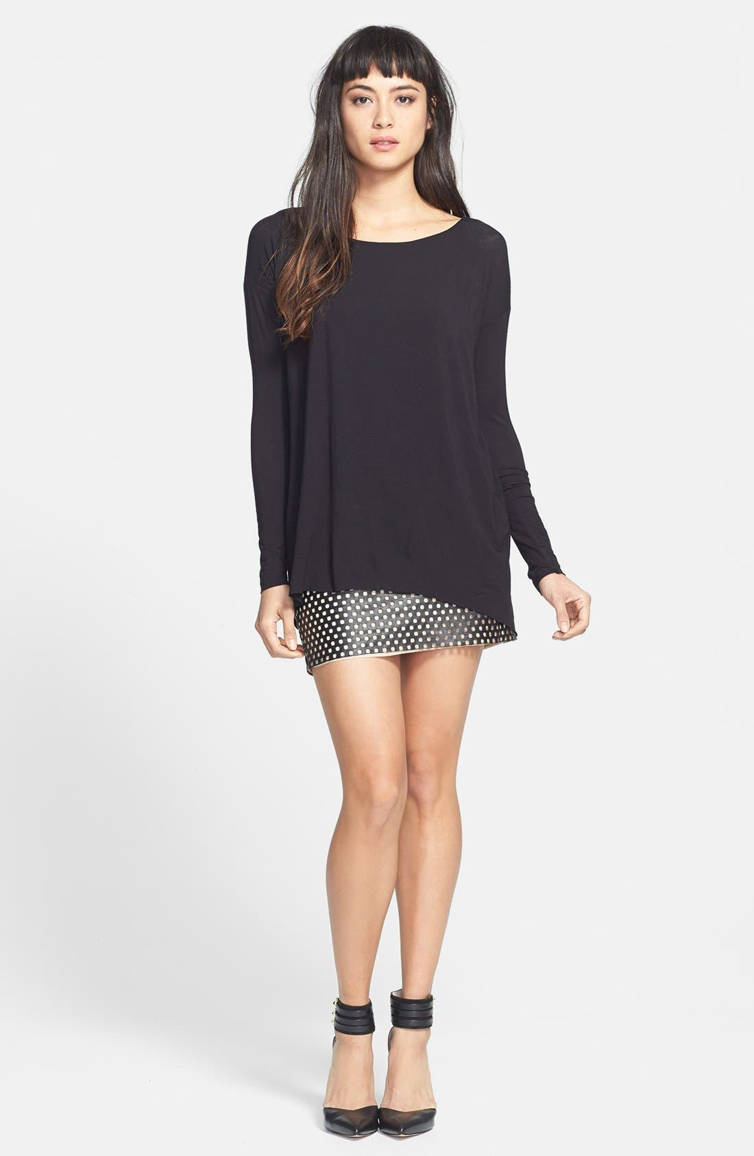 Main Image - Bailey 44 'Black Hole' Jersey & Leather Dress