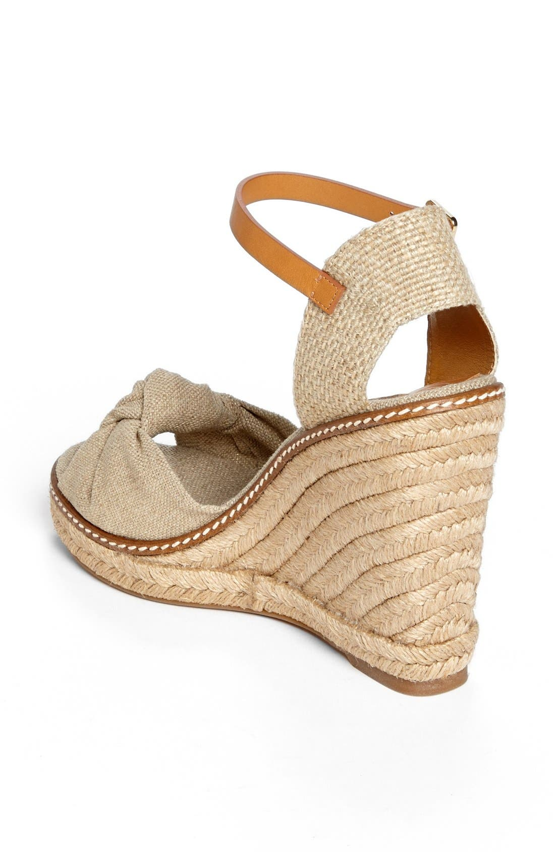 Alternate Image 2  - Tory Burch 'Macy' Leather Wedge Espadrille Sandal