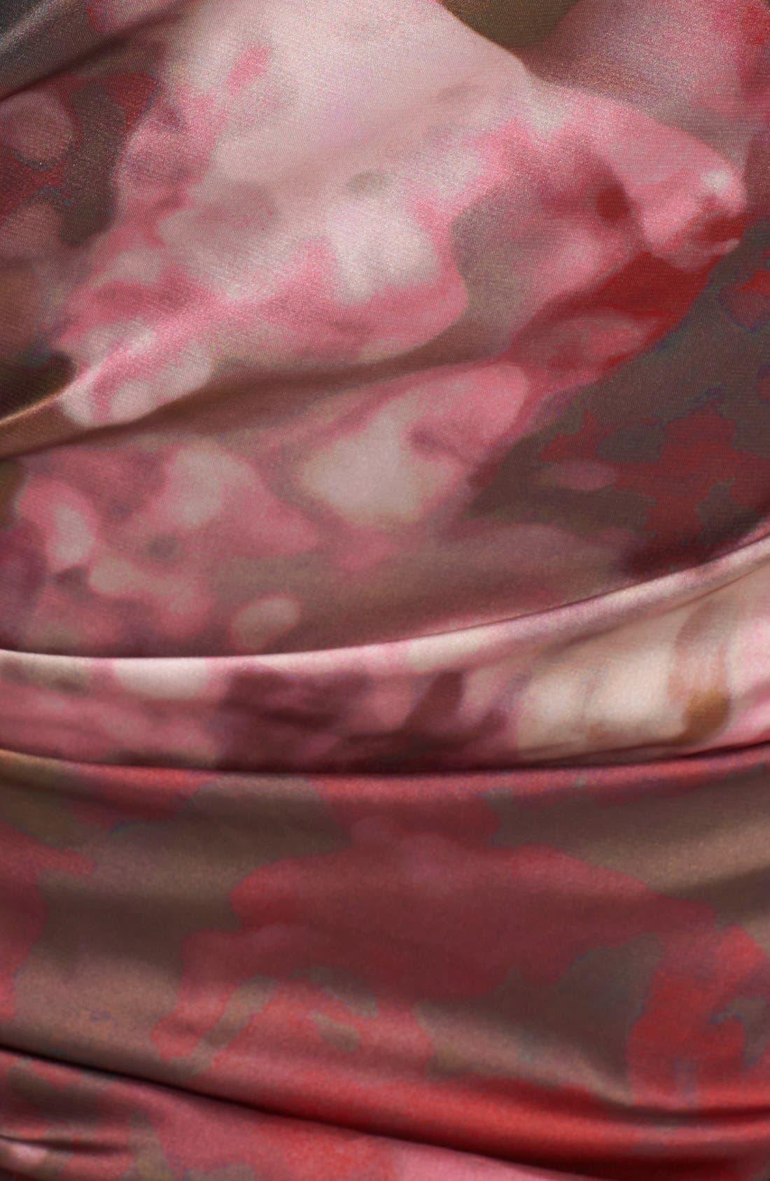 Alternate Image 3  - Vera Wang Print Asymmetrical Crepe Sheath Dress