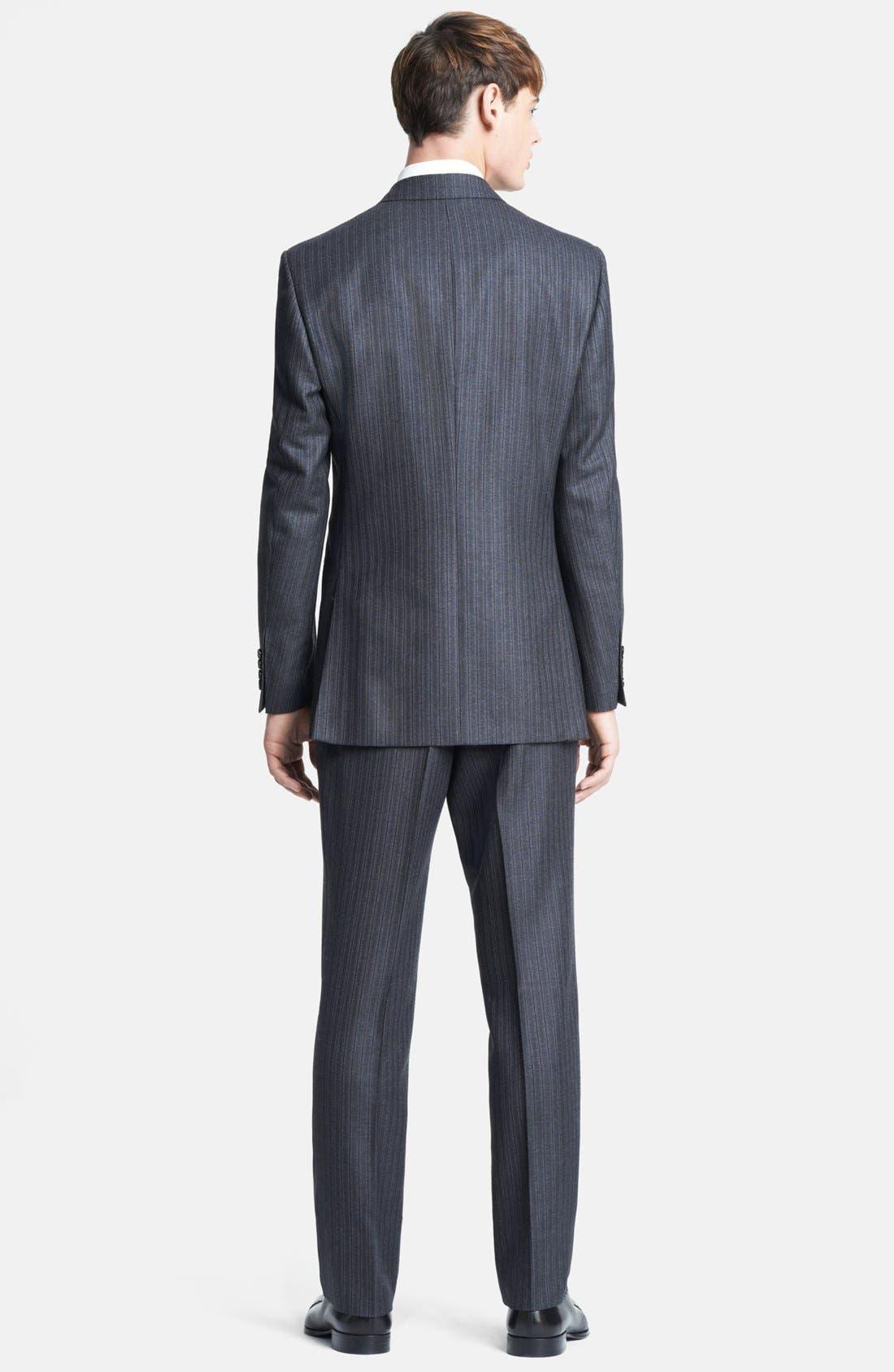 Alternate Image 3  - Burberry London Grey Stripe Wool Suit