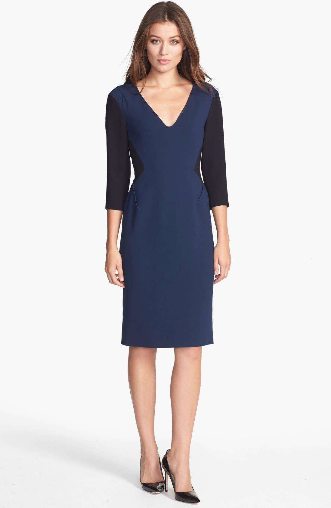 Alternate Image 1 Selected - Rachel Roy Colorblock Crepe Sheath Dress