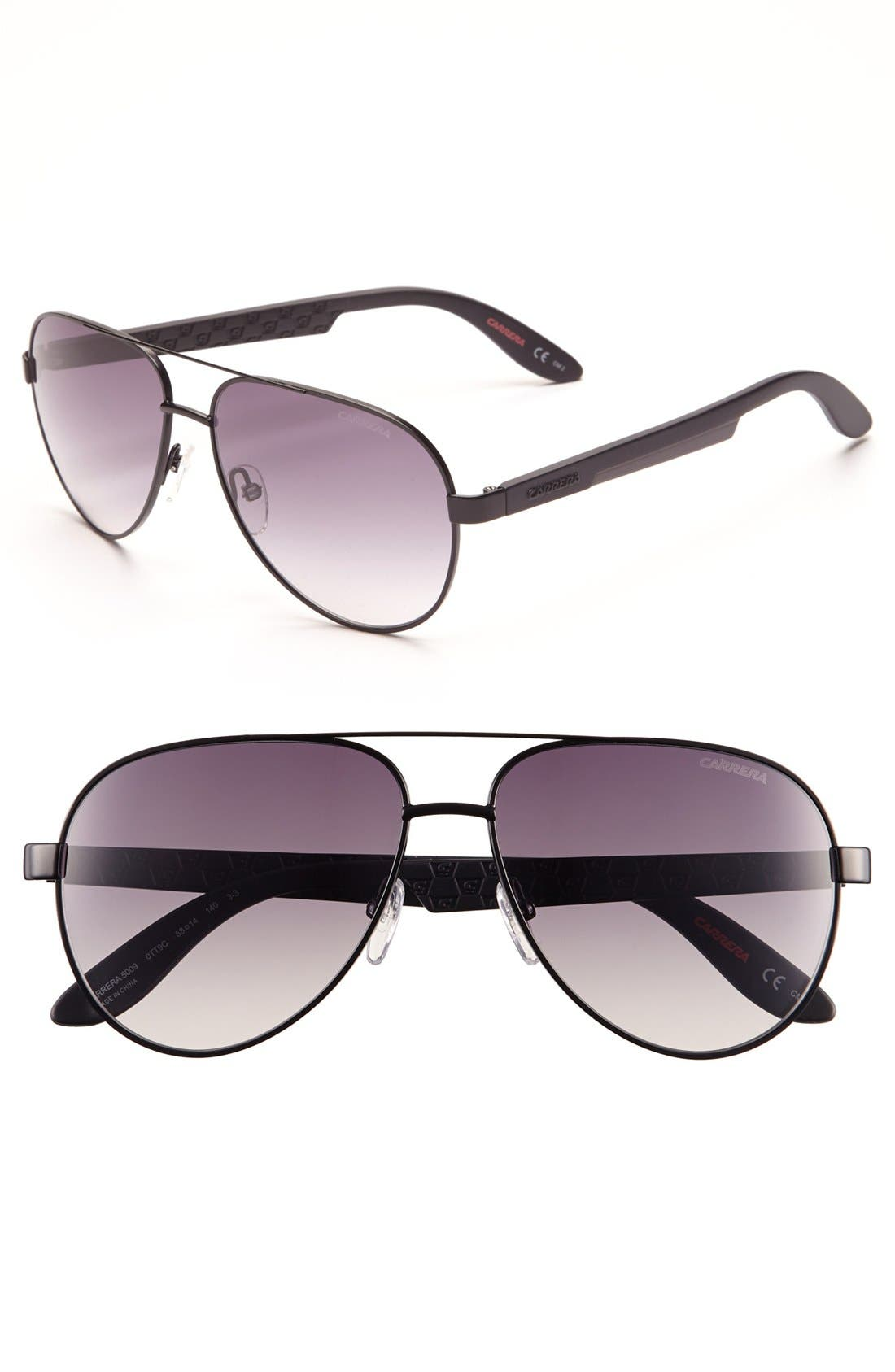 Alternate Image 1 Selected - Carrera Eyewear 58mm Aviator Sunglasses