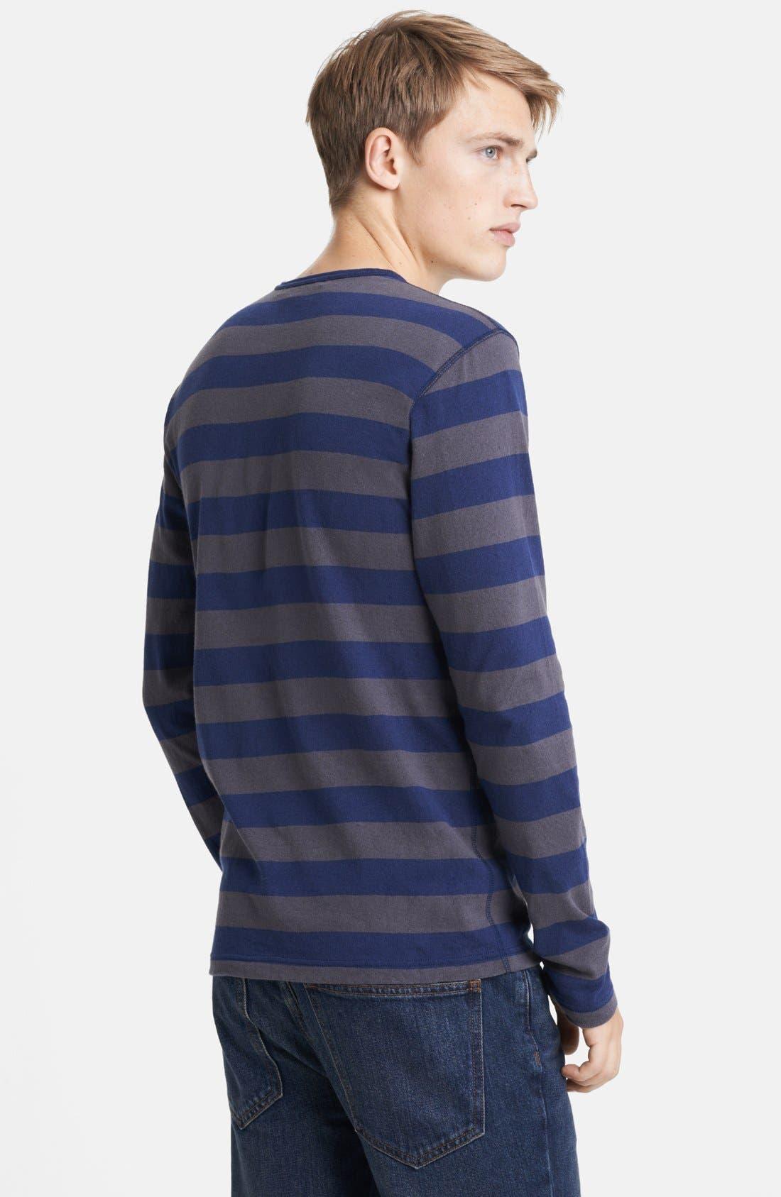 Alternate Image 2  - Junya Watanabe Stripe Jersey Cotton Long Sleeve T-Shirt