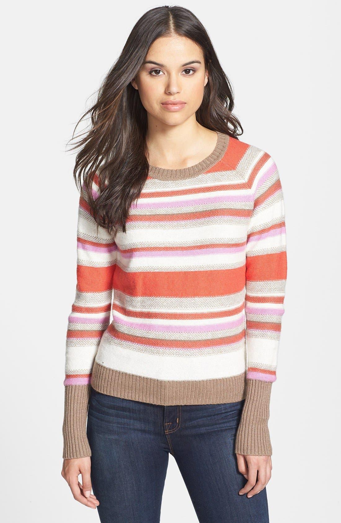 Alternate Image 1 Selected - Halogen® Open Crewneck Sweater