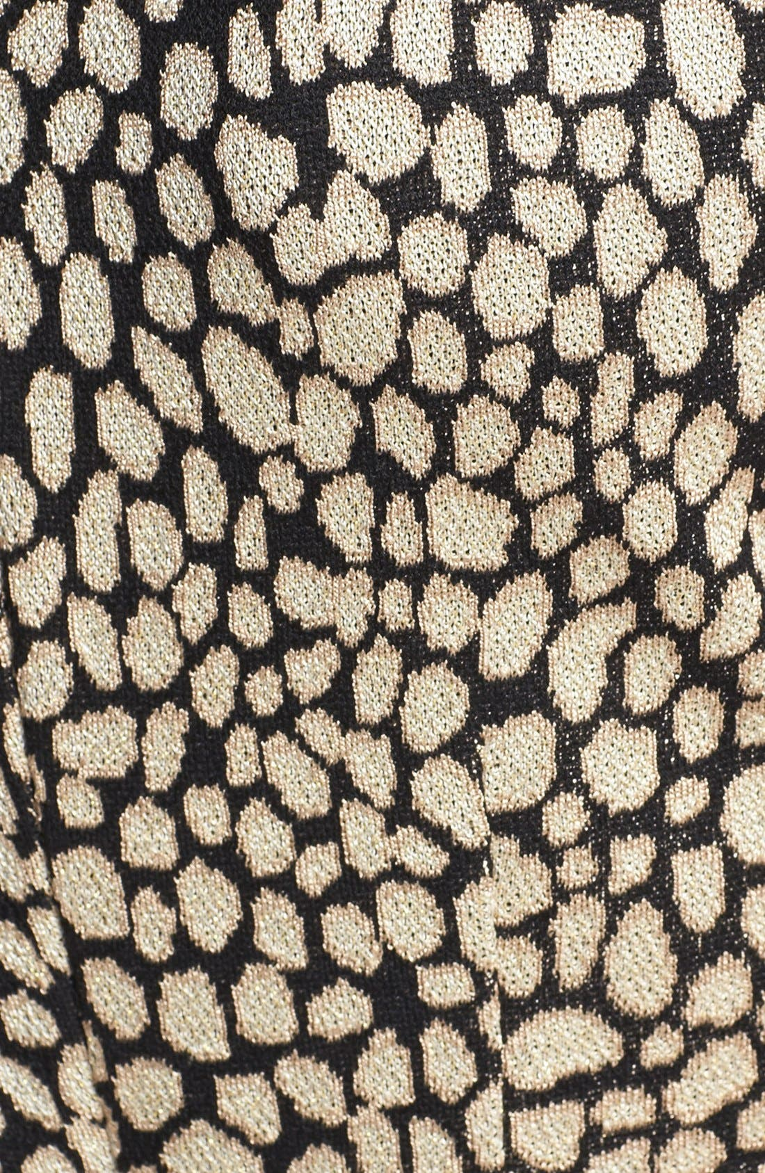 Alternate Image 4  - St. John Collection Animal Jacquard Knit Dress