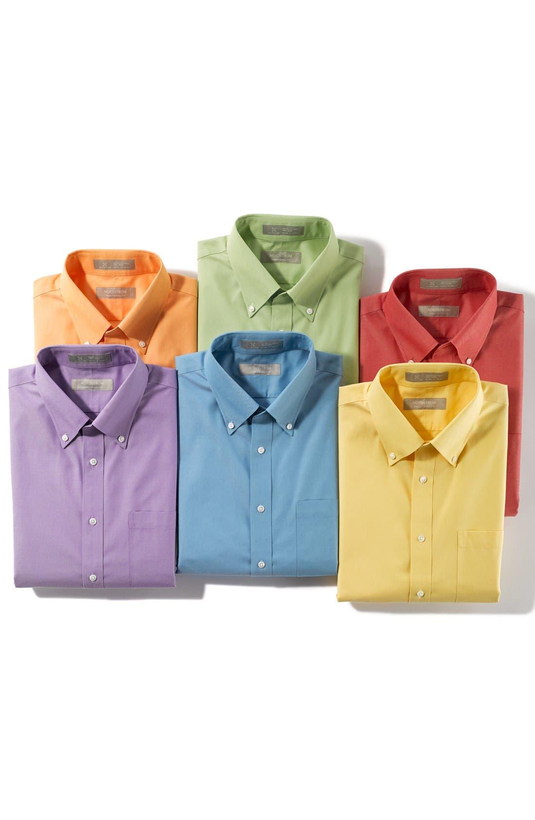 Alternate Image 7  - Nordstrom Men's Shop Smartcare™ Traditional Fit Pinpoint Dress Shirt