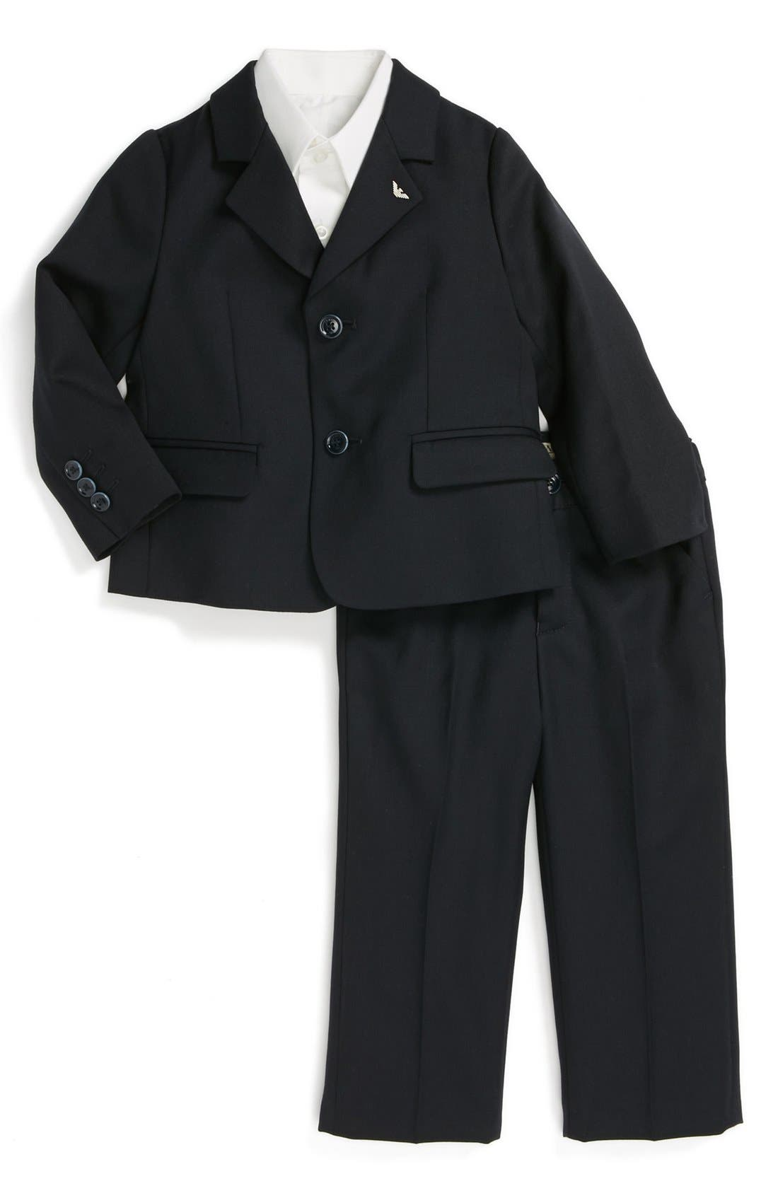Alternate Image 1 Selected - Armani Junior Wool Suit (Baby Boys)