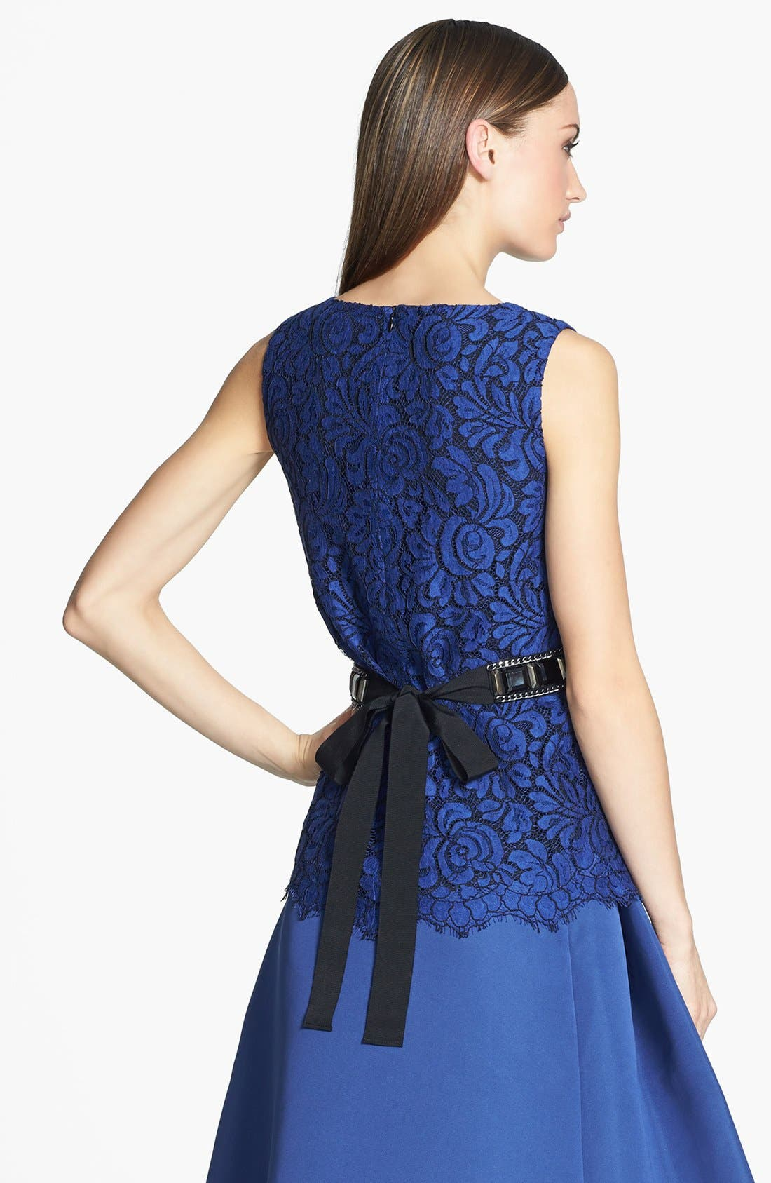 Alternate Image 2  - St. John Collection Sleeveless Lace A-Line Blouse