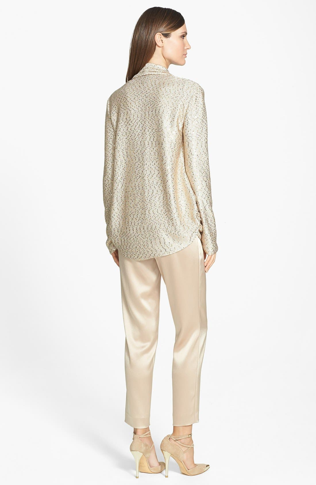 Alternate Image 3  - St. John Collection Sequin Ruched Knit Cardigan