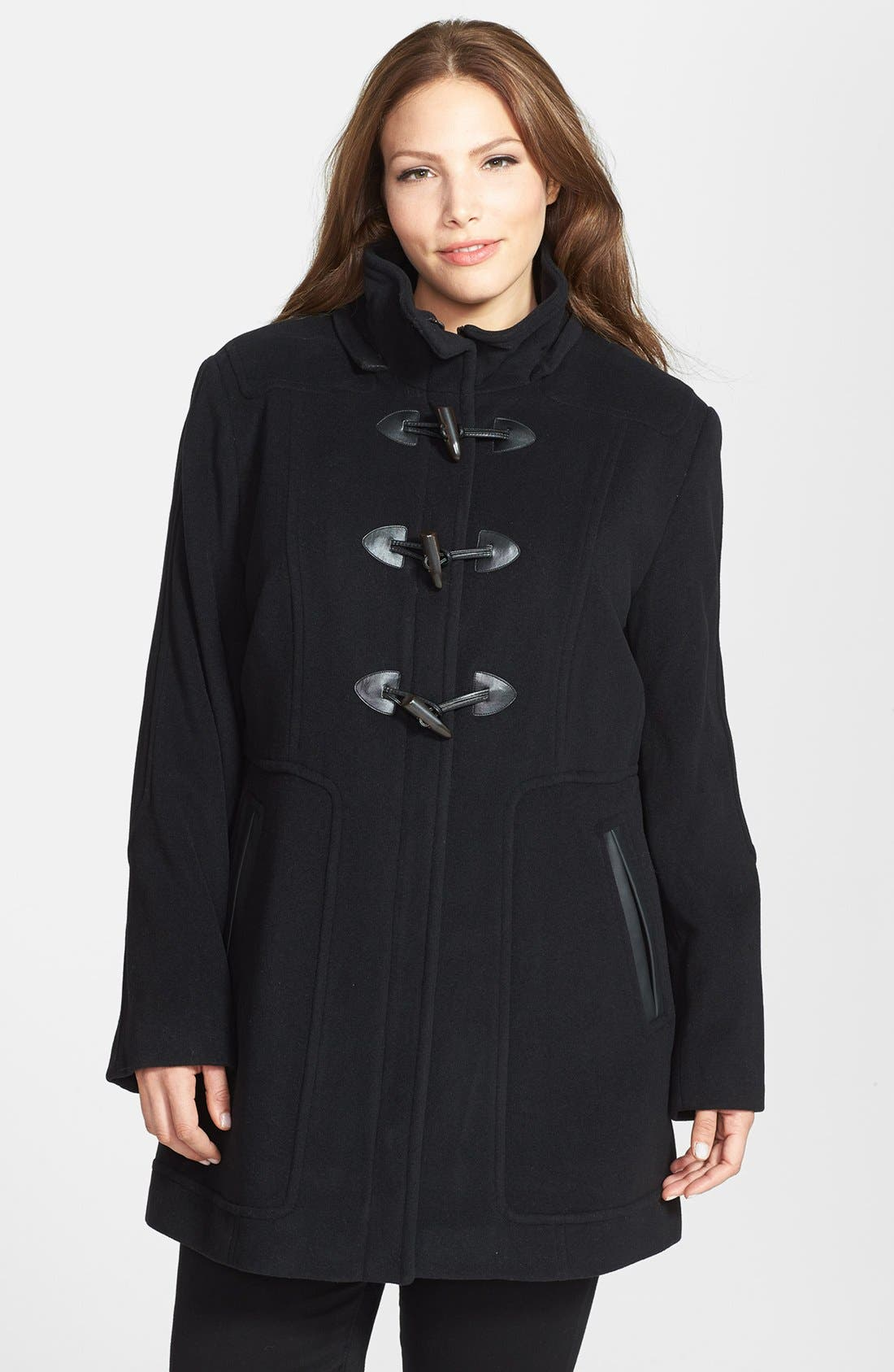 Alternate Image 2  - Marc New York by Andrew Marc 'Harley' Genuine Coyote Fur Trim Duffle Coat (Plus Size)