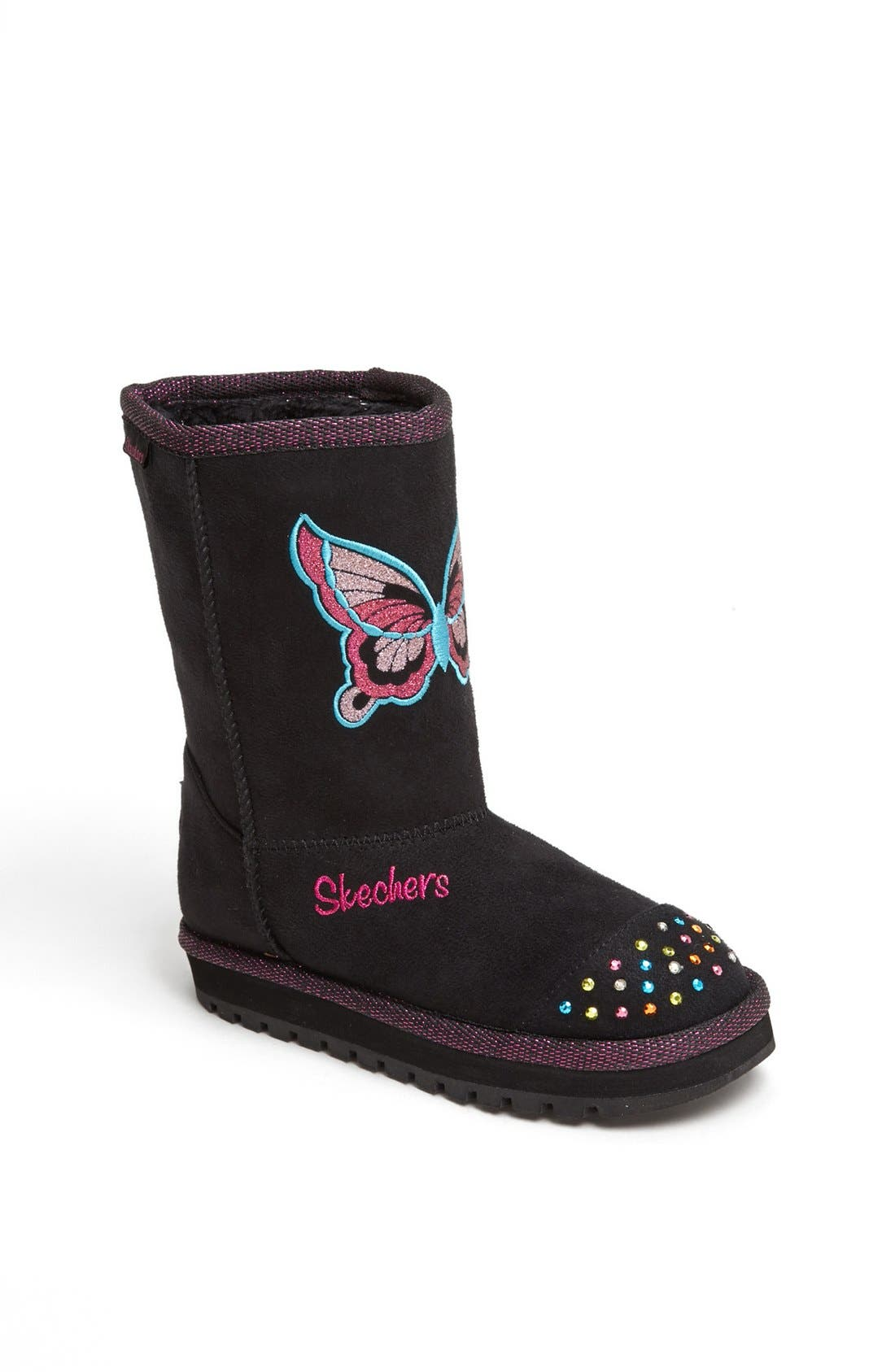 Alternate Image 1 Selected - SKECHERS 'Keepsakes' Light Up Boot (Walker, Toddler, Little Kid)
