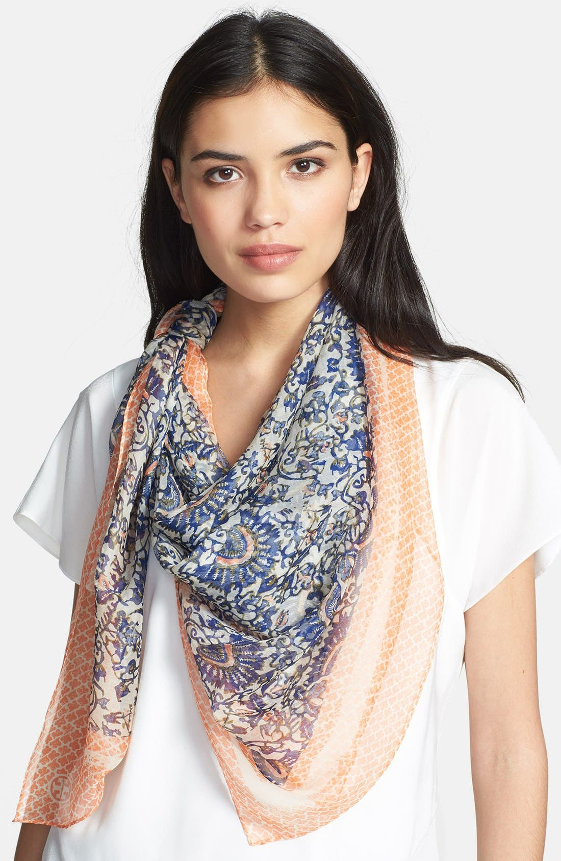Alternate Image 1 Selected - Tory Burch 'Madura' Silk Chiffon Scarf