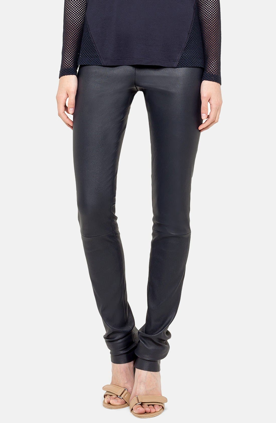 Main Image - Akris punto Stretch Lambskin Leather Leggings