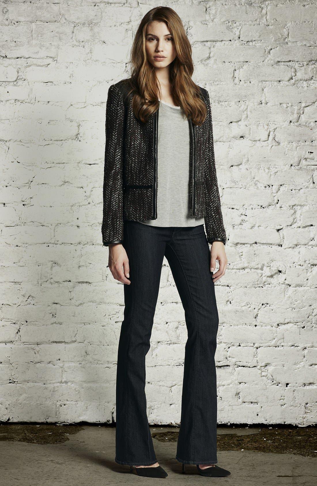 Alternate Image 4  - Hinge Faux Leather Trim Tweed Jacket