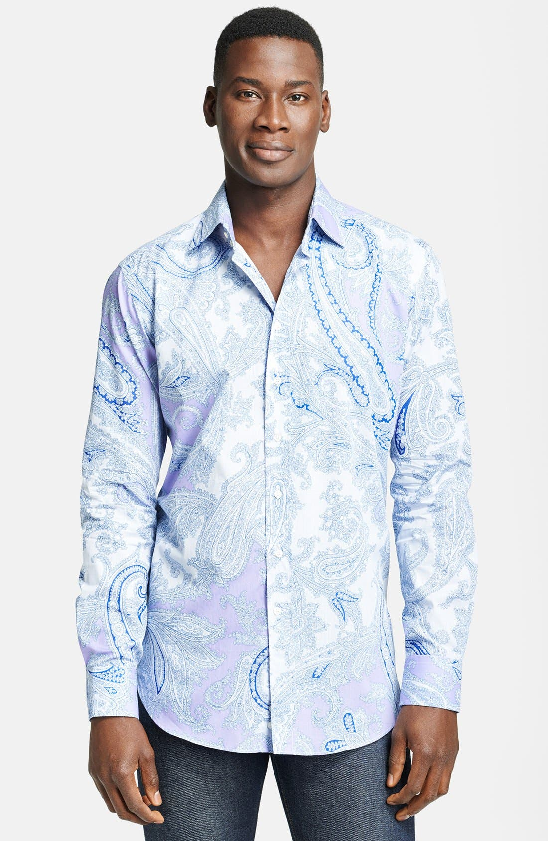 Alternate Image 1 Selected - Etro Paisley Print Cotton Dress Shirt